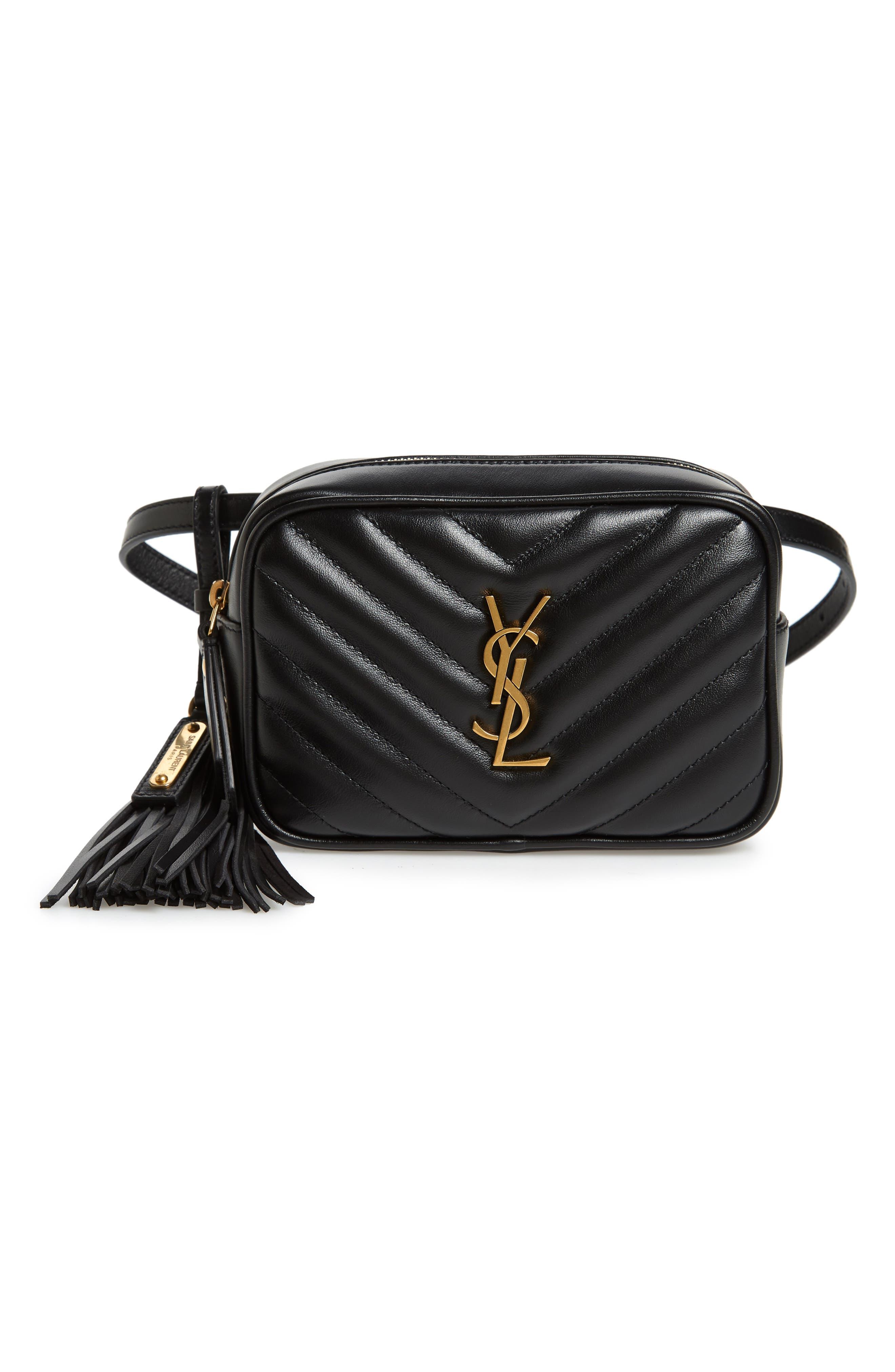 Loulou Matelassé Leather Belt Bag,                         Main,                         color, 001