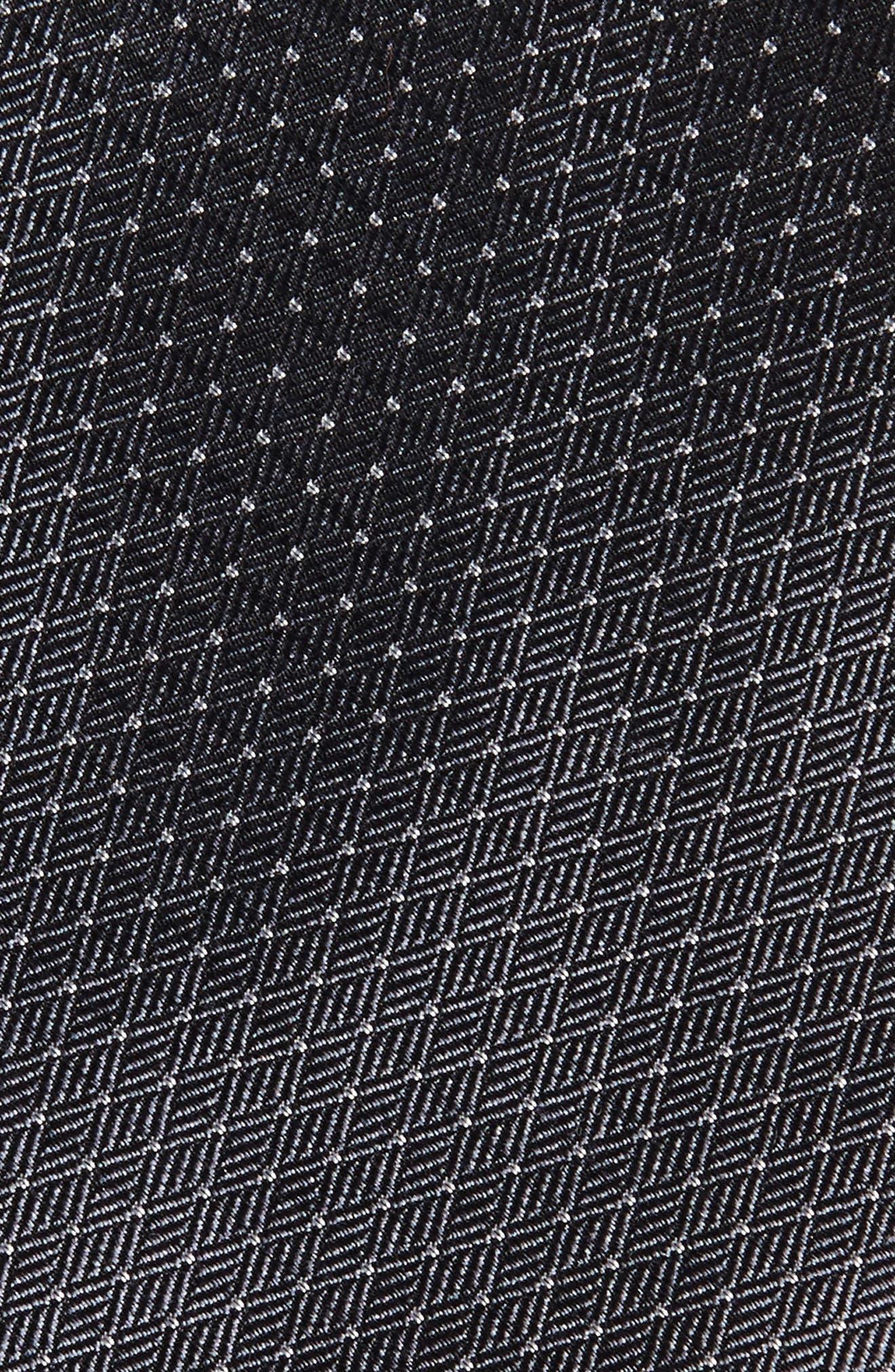 Parquet Pin Dot Silk Tie,                             Alternate thumbnail 2, color,                             020