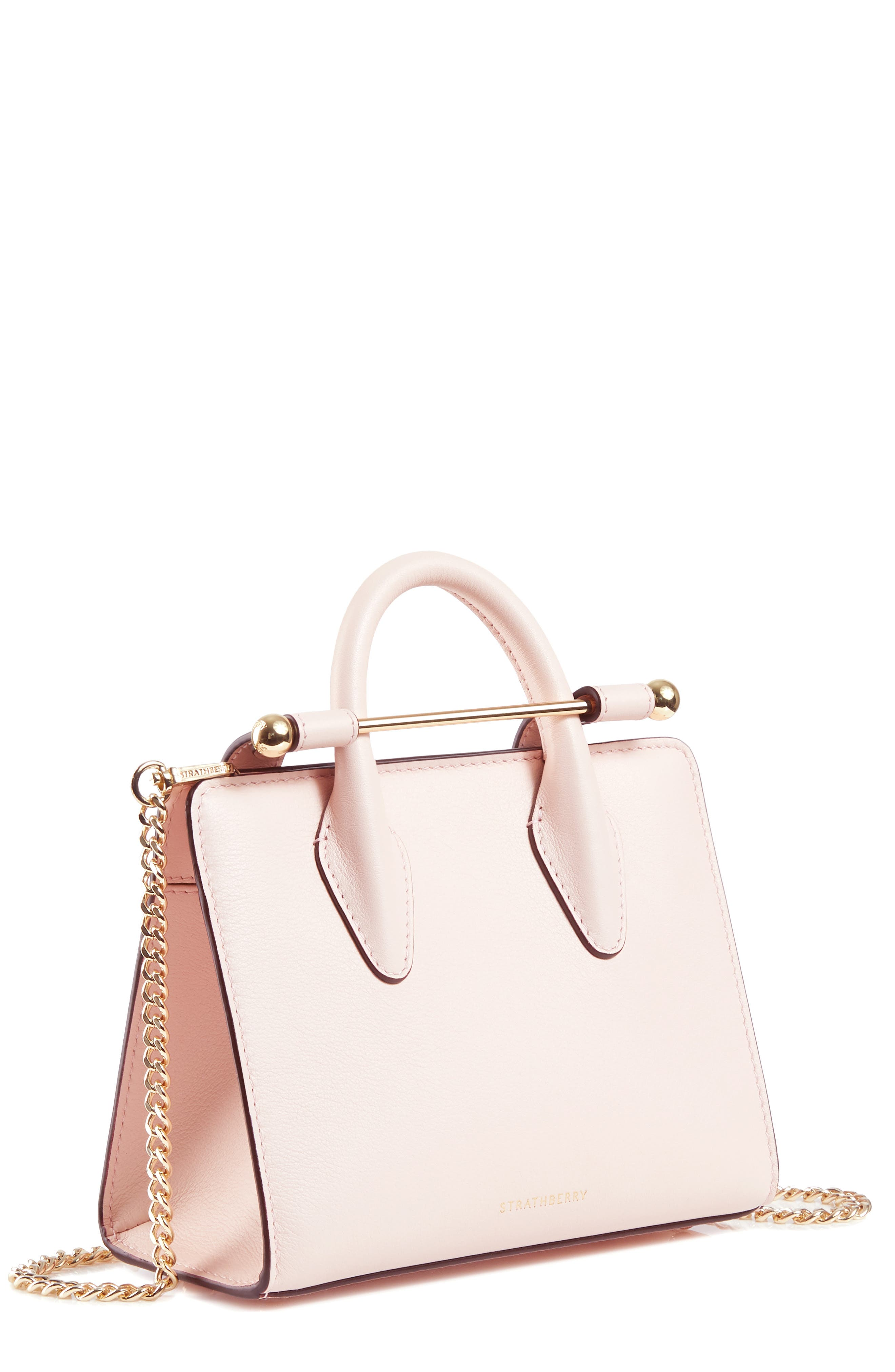 STRATHBERRY,                             Nano Leather Tote,                             Main thumbnail 1, color,                             BABY PINK