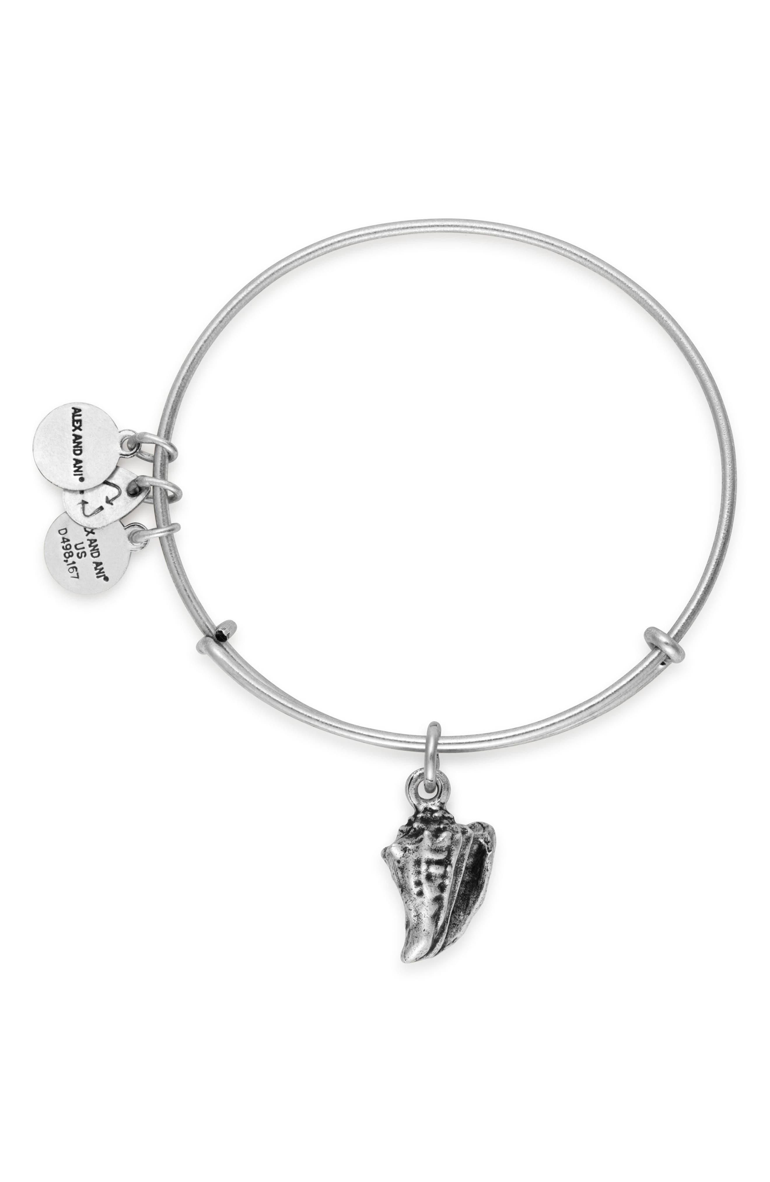 Conch Shell Expandable Charm Bracelet,                             Alternate thumbnail 2, color,                             040