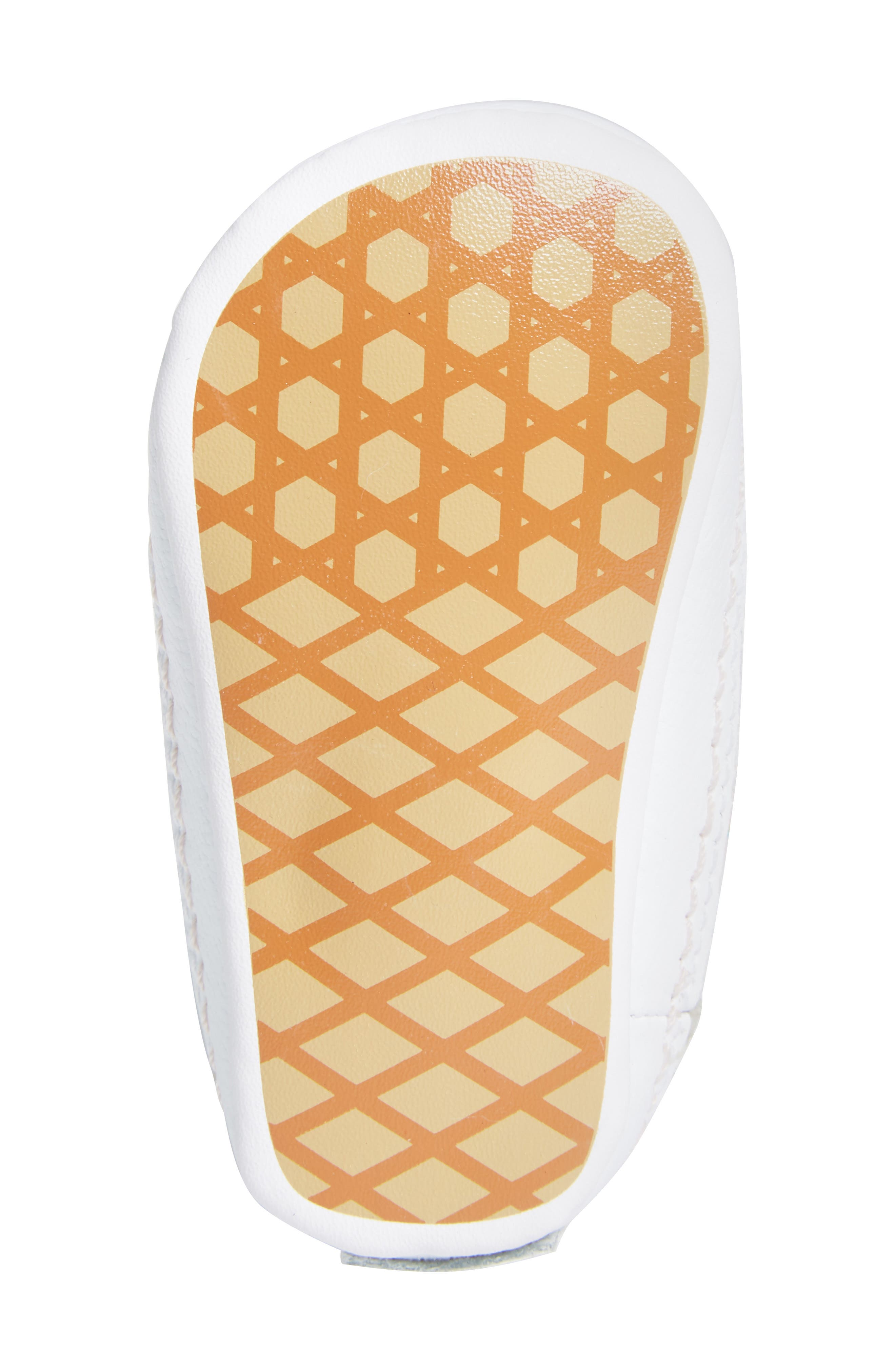 'SK8-Hi' Crib Sneaker,                             Alternate thumbnail 6, color,                             GLITTER PEGASUS PINK/ WHITE