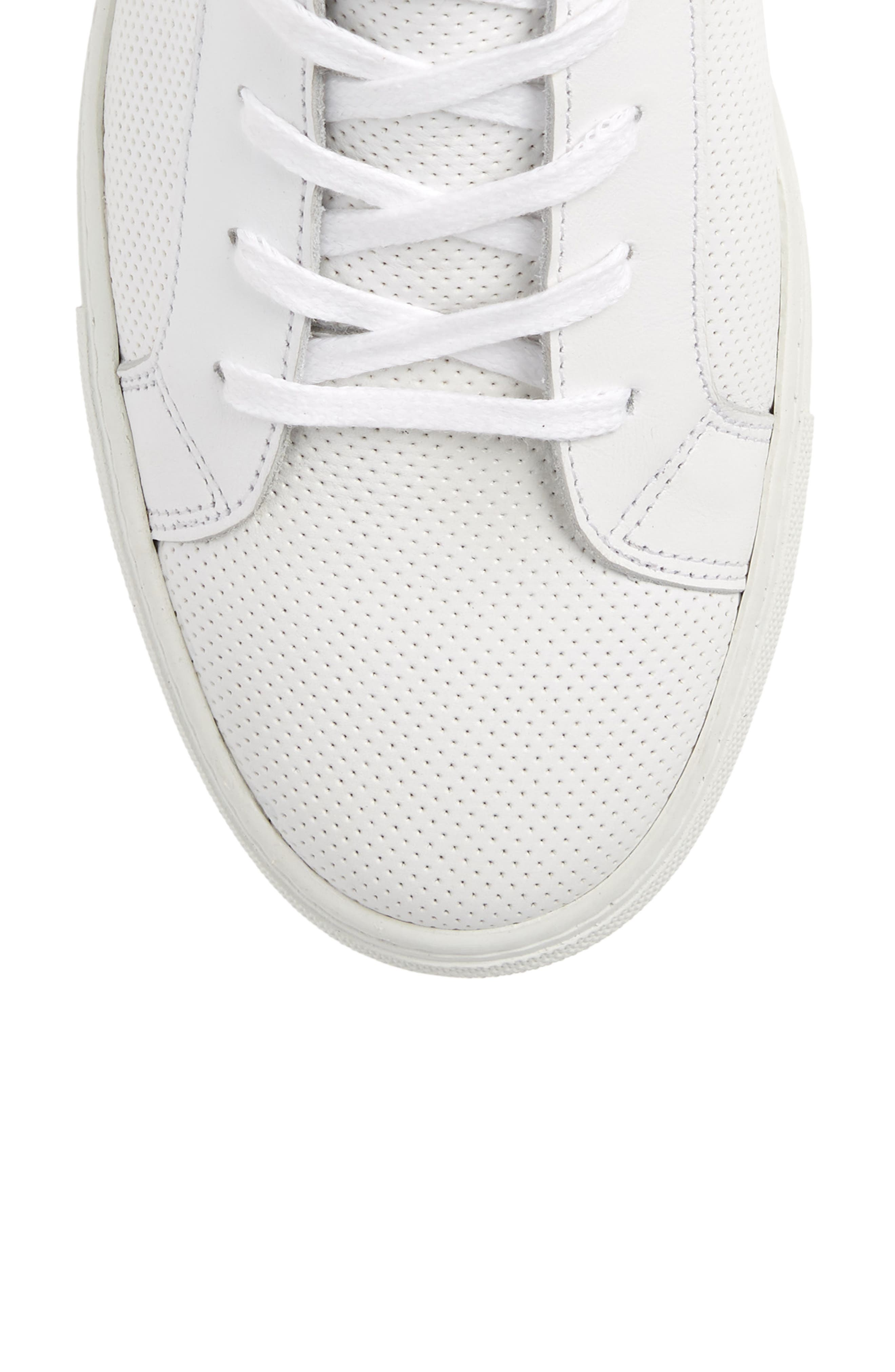 Deacon Mid Sneaker,                             Alternate thumbnail 5, color,                             WHITE PERFORATED LEATHER