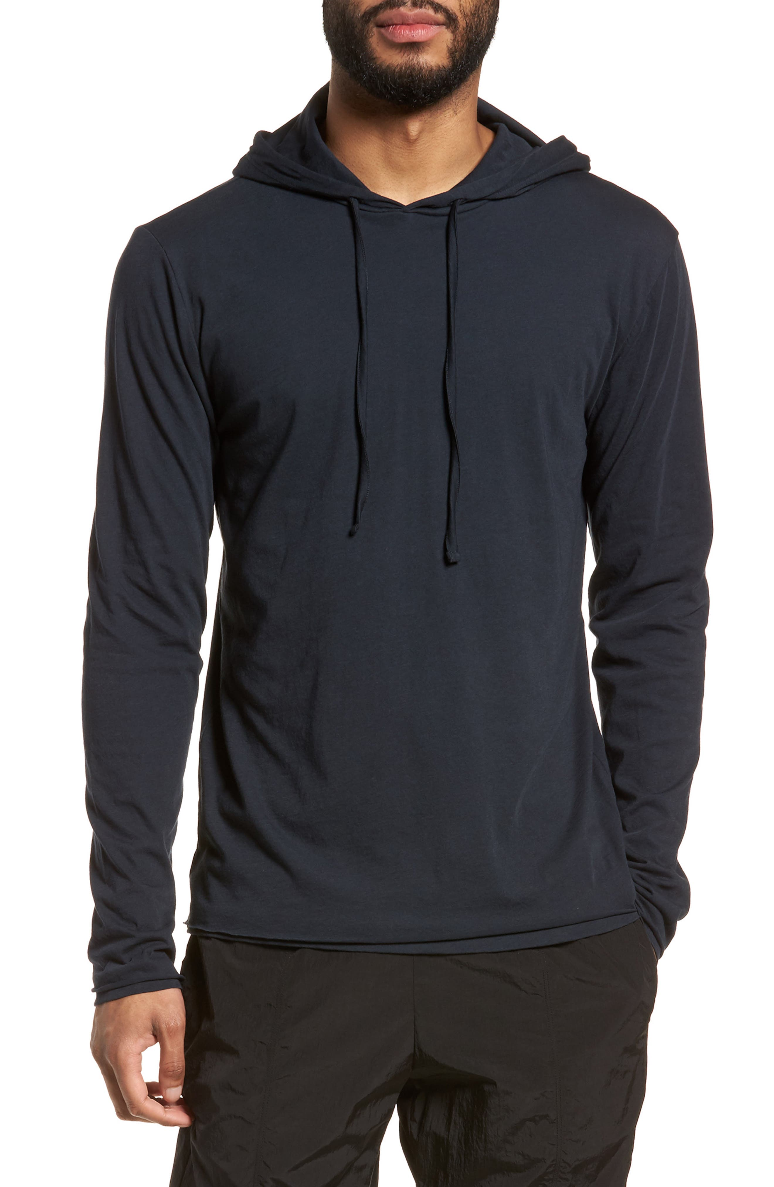 Layered Long Sleeve Pullover Hoodie,                             Main thumbnail 3, color,