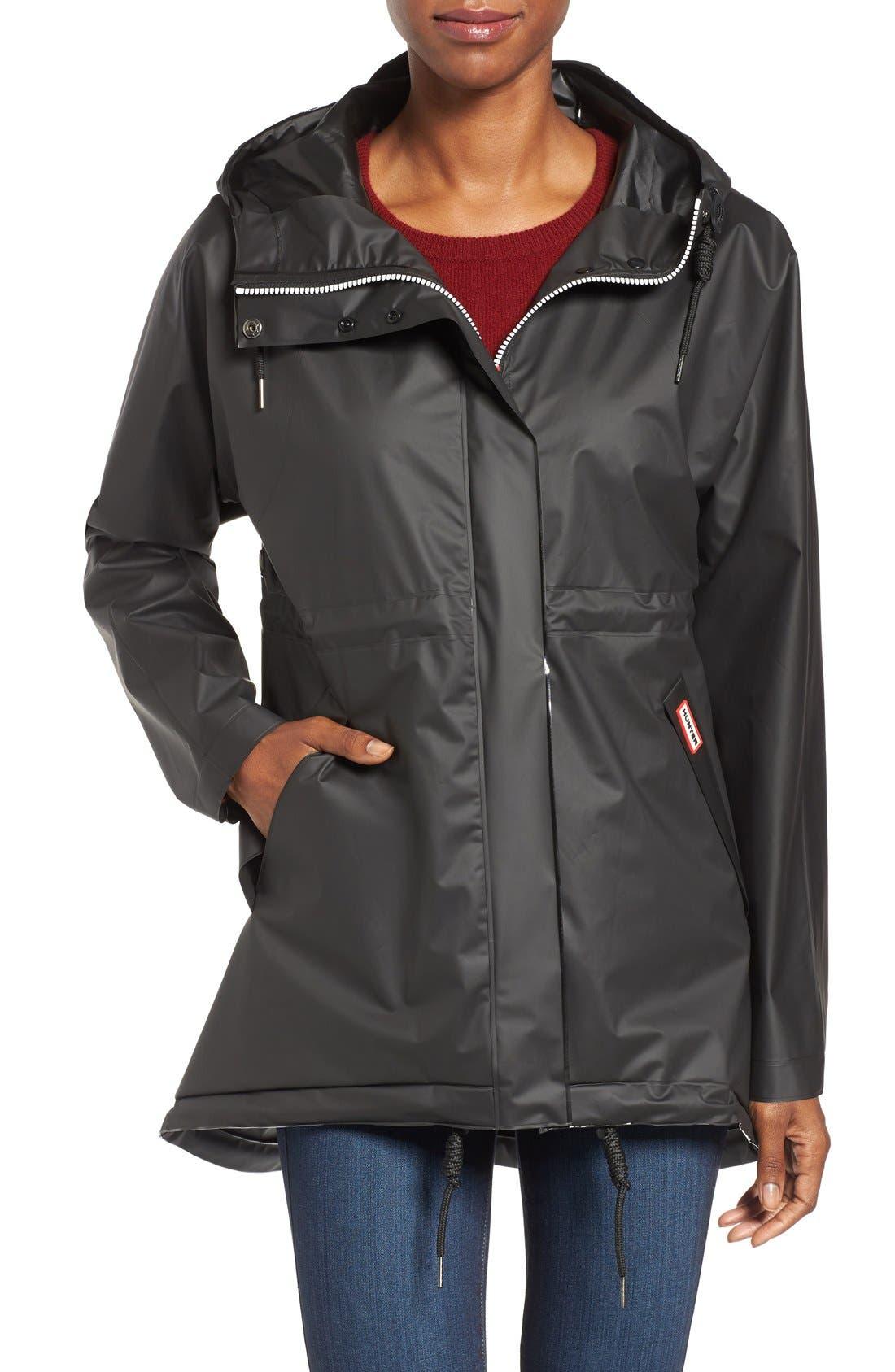 'Original Smock' Hooded Drawstring Waterproof Jacket,                             Main thumbnail 1, color,                             001