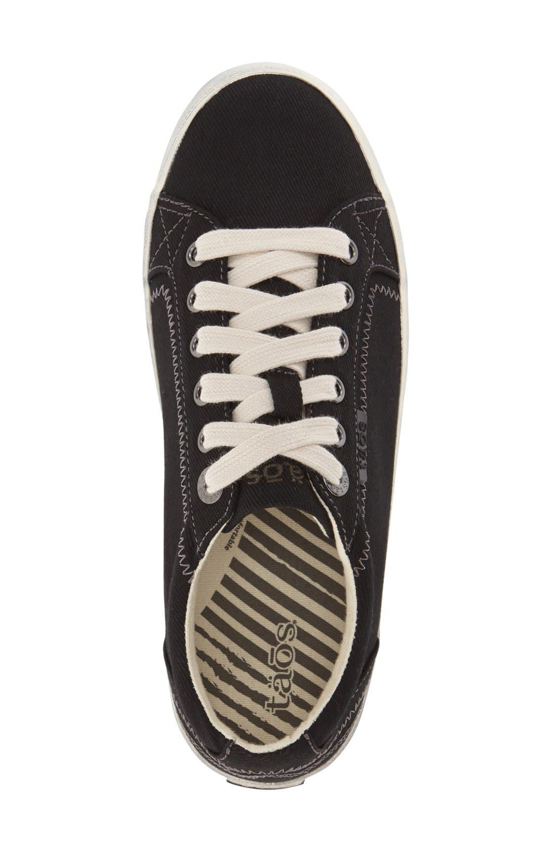 'Star' Sneaker,                             Alternate thumbnail 8, color,                             BLACK CANVAS