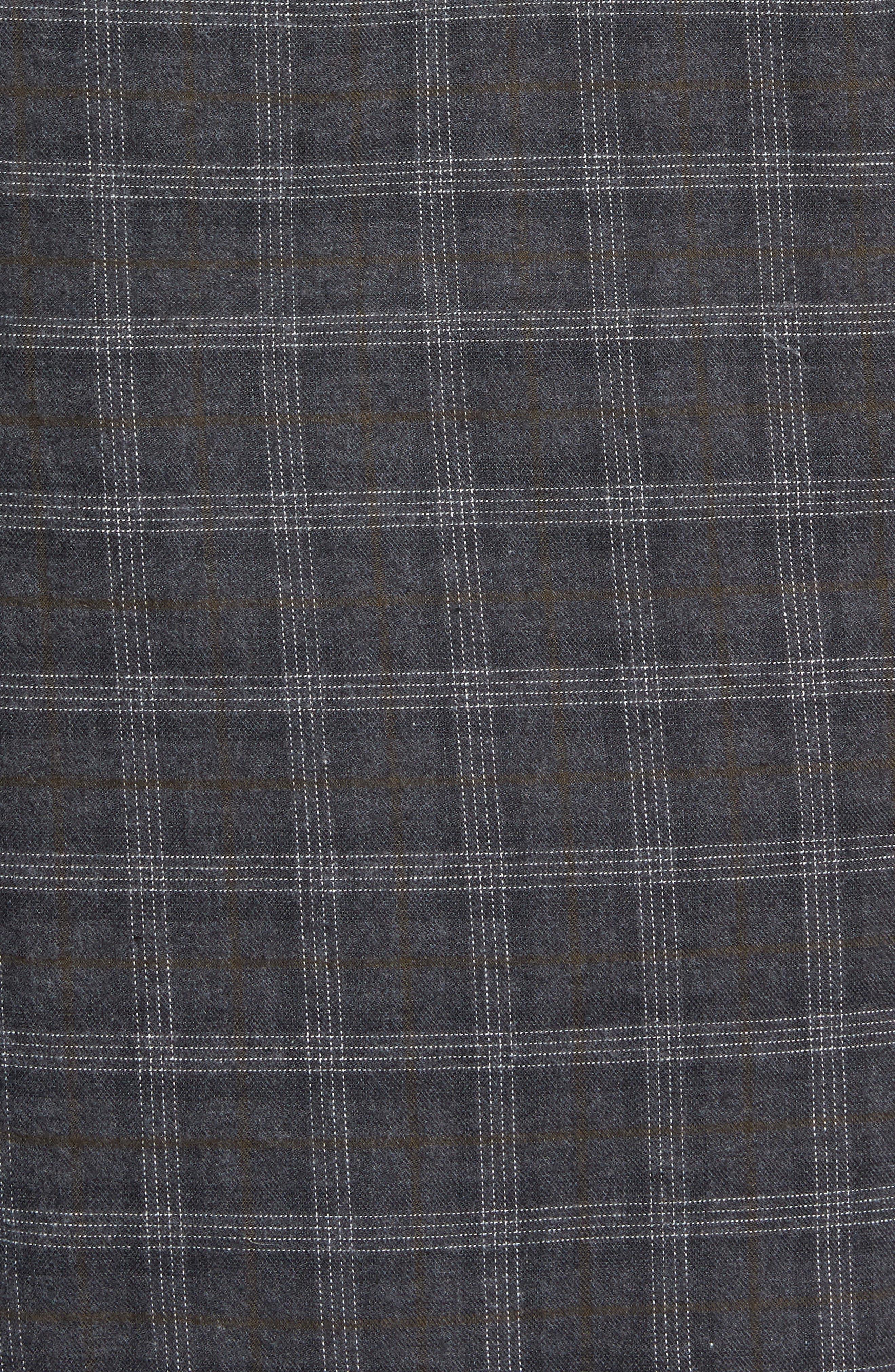 Walland Regular Fit Plaid Sport Shirt,                             Alternate thumbnail 5, color,                             DARK GREY