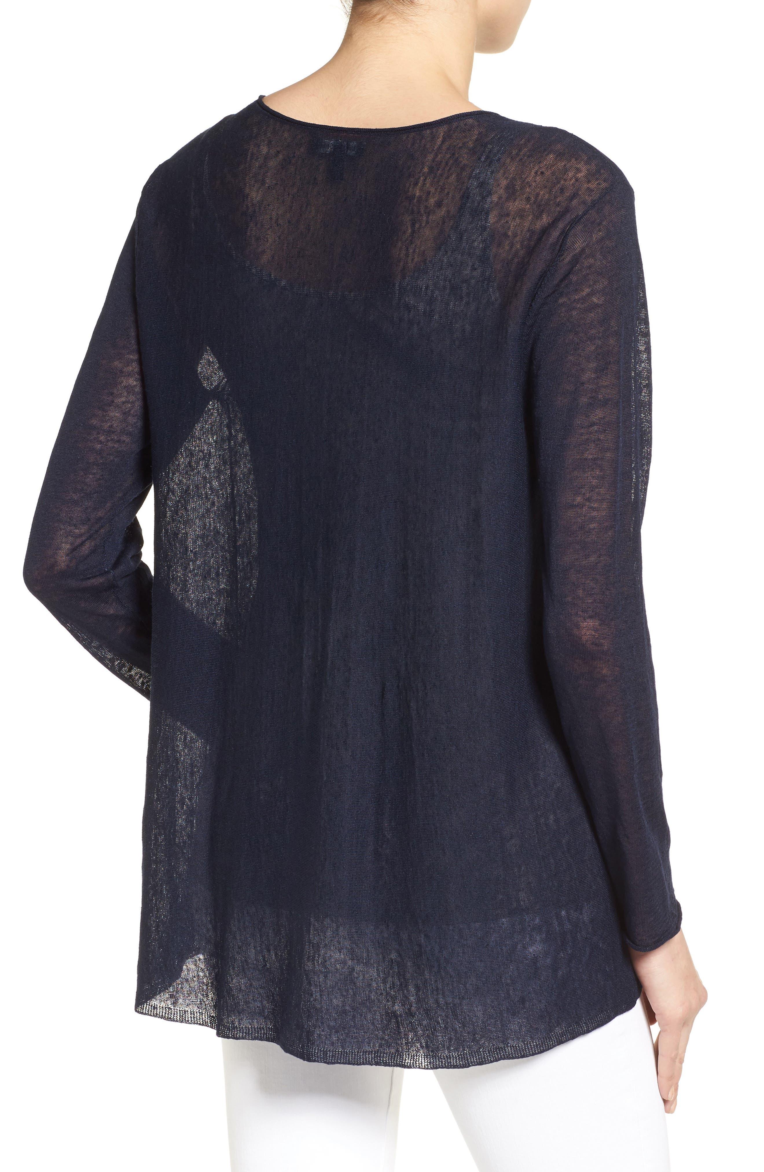 Organic Linen Blend Swing Sweater,                             Alternate thumbnail 16, color,