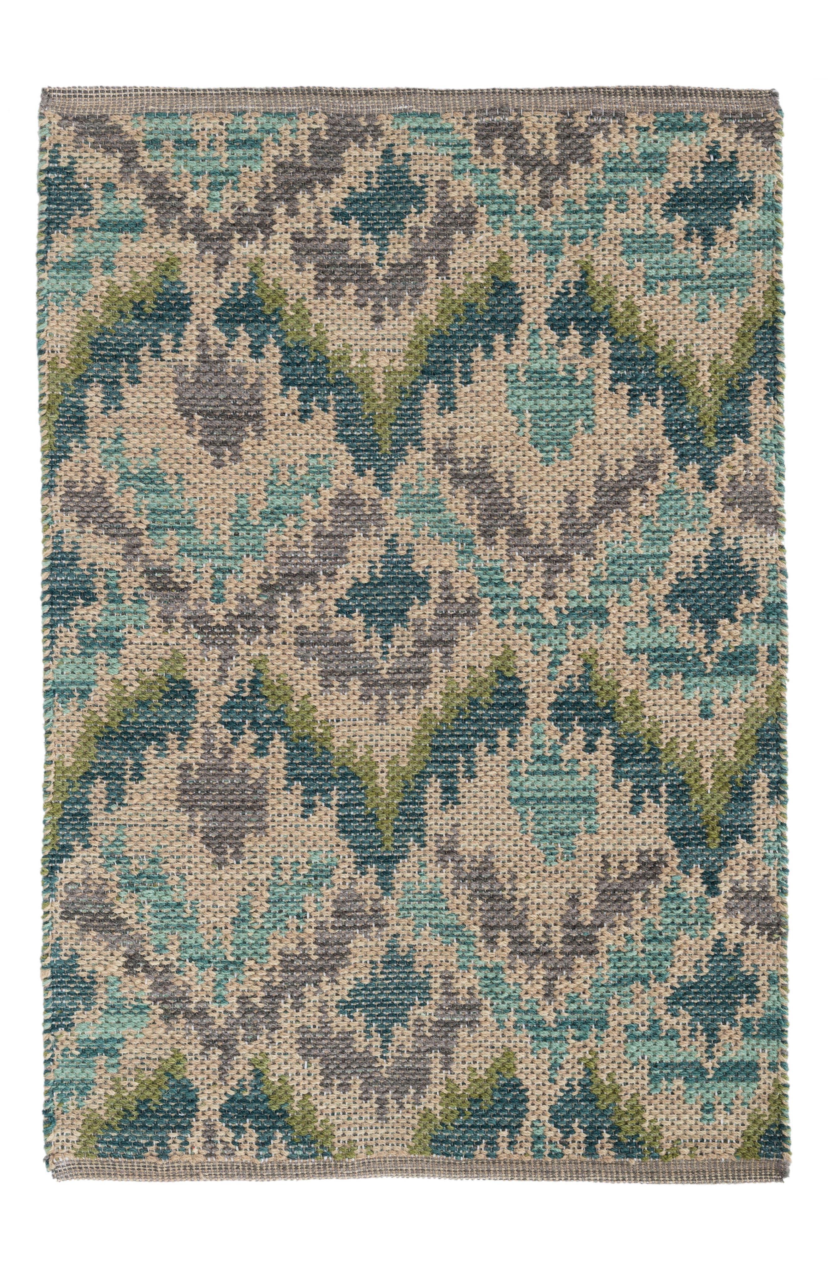 Medina Handwoven Jacquard Rug,                             Main thumbnail 1, color,                             GREEN