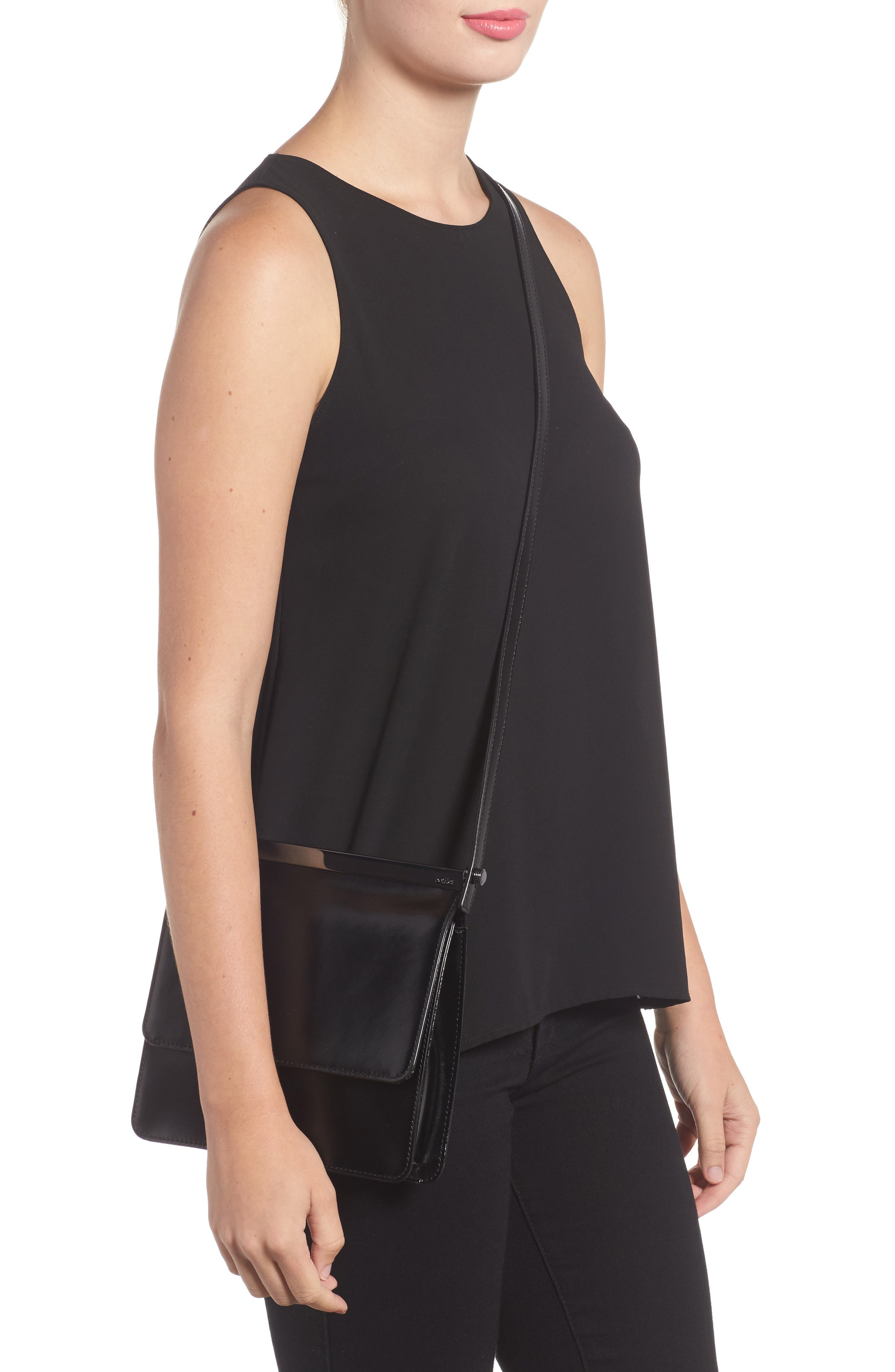 Crawford Calfskin Leather Crossbody Bag,                             Alternate thumbnail 4, color,