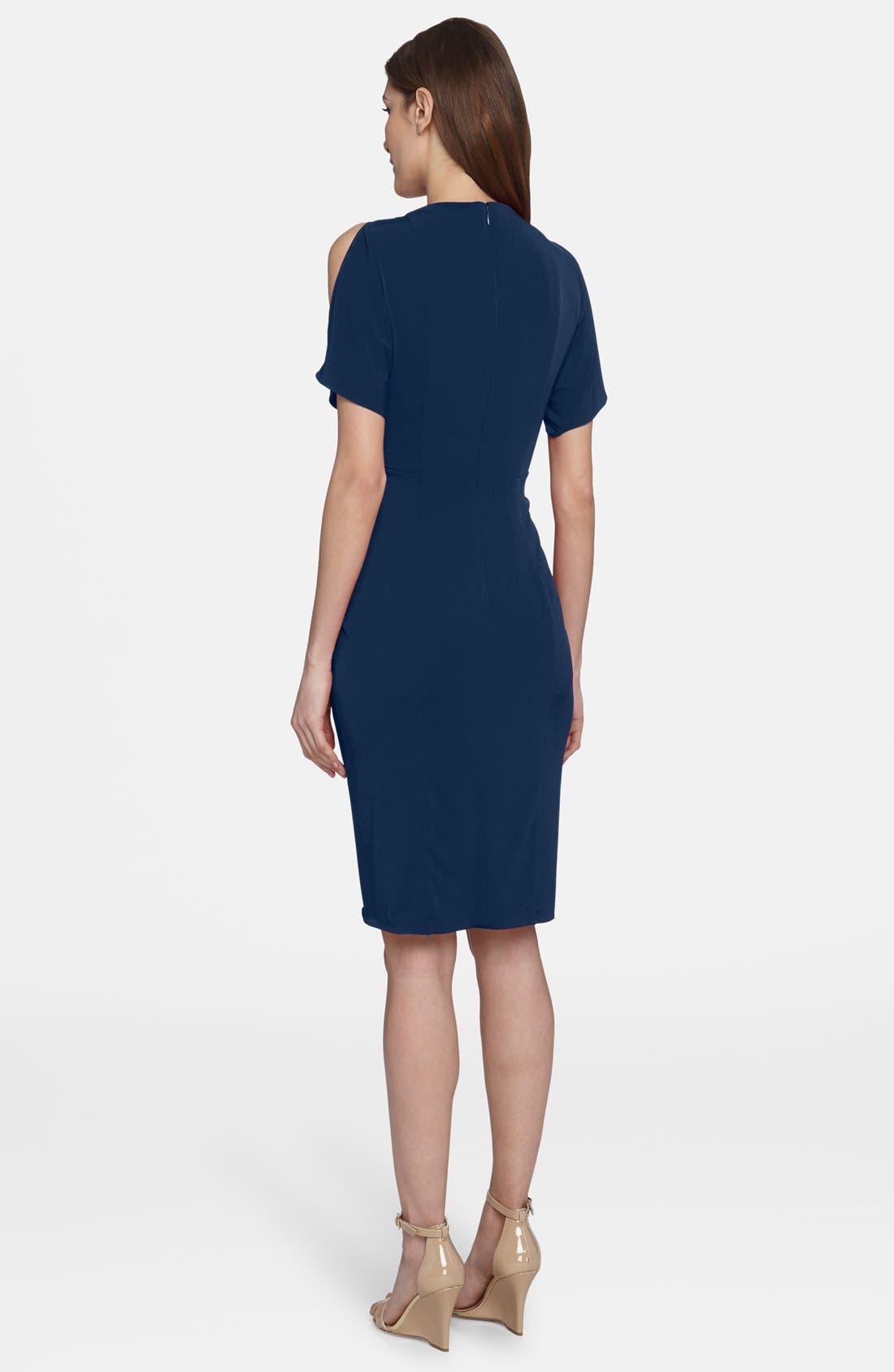 'Emily' Cold Shoulder Twist Front Dress,                             Alternate thumbnail 2, color,                             477
