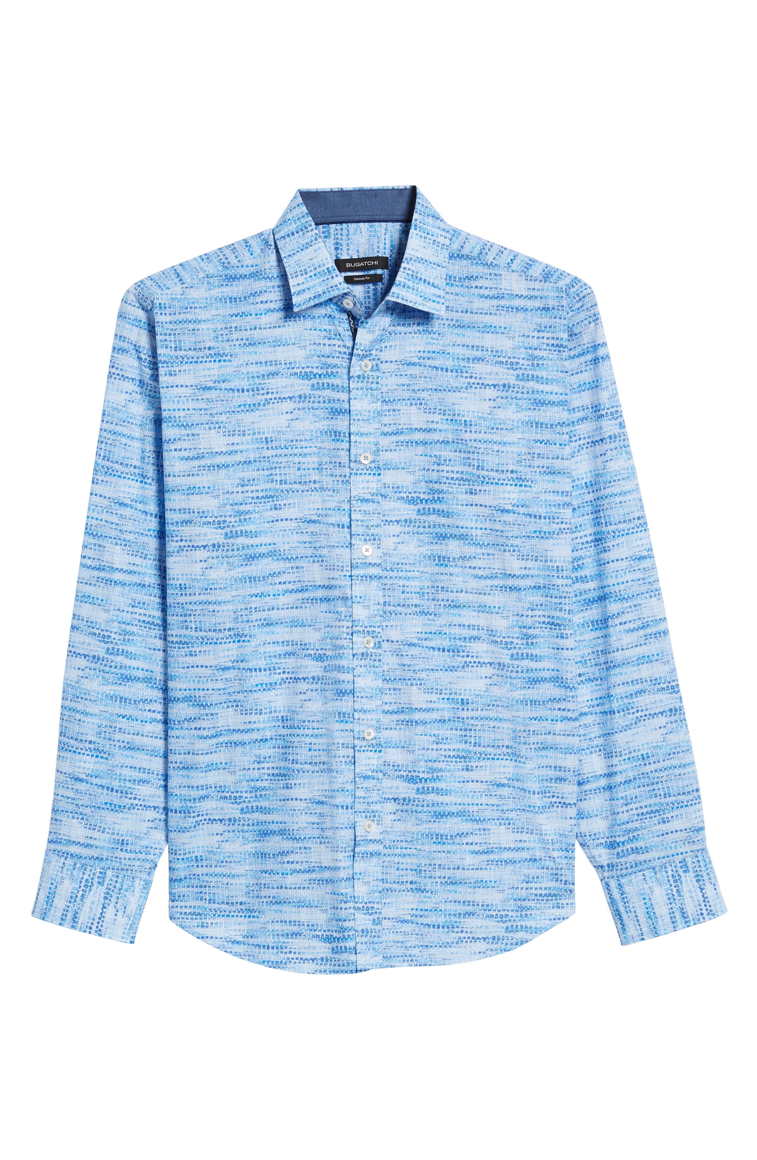 Classic Fit Weave Print Sport Shirt,                             Alternate thumbnail 6, color,                             422