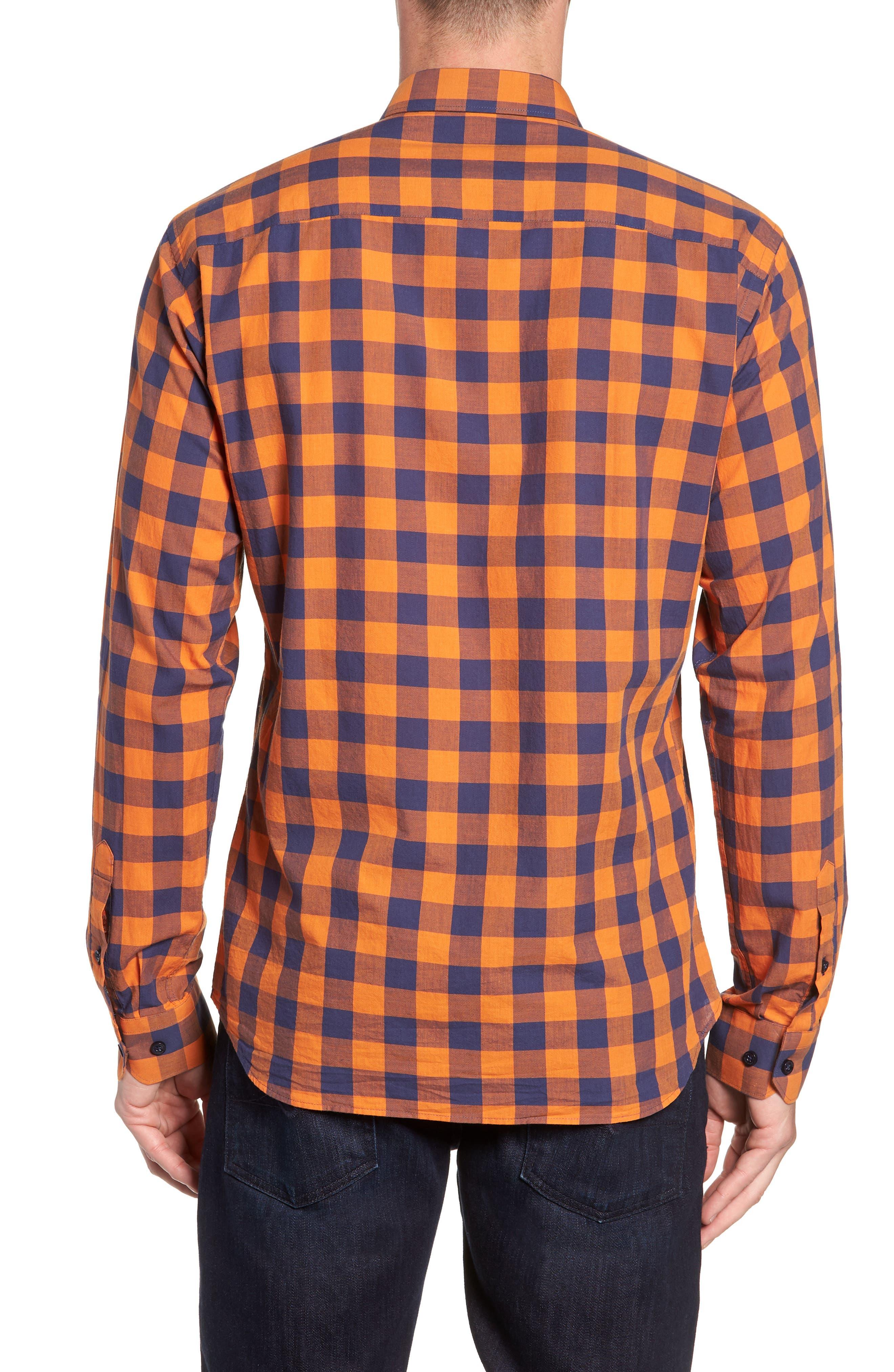 Trim Fit Sport Shirt,                             Alternate thumbnail 3, color,                             800