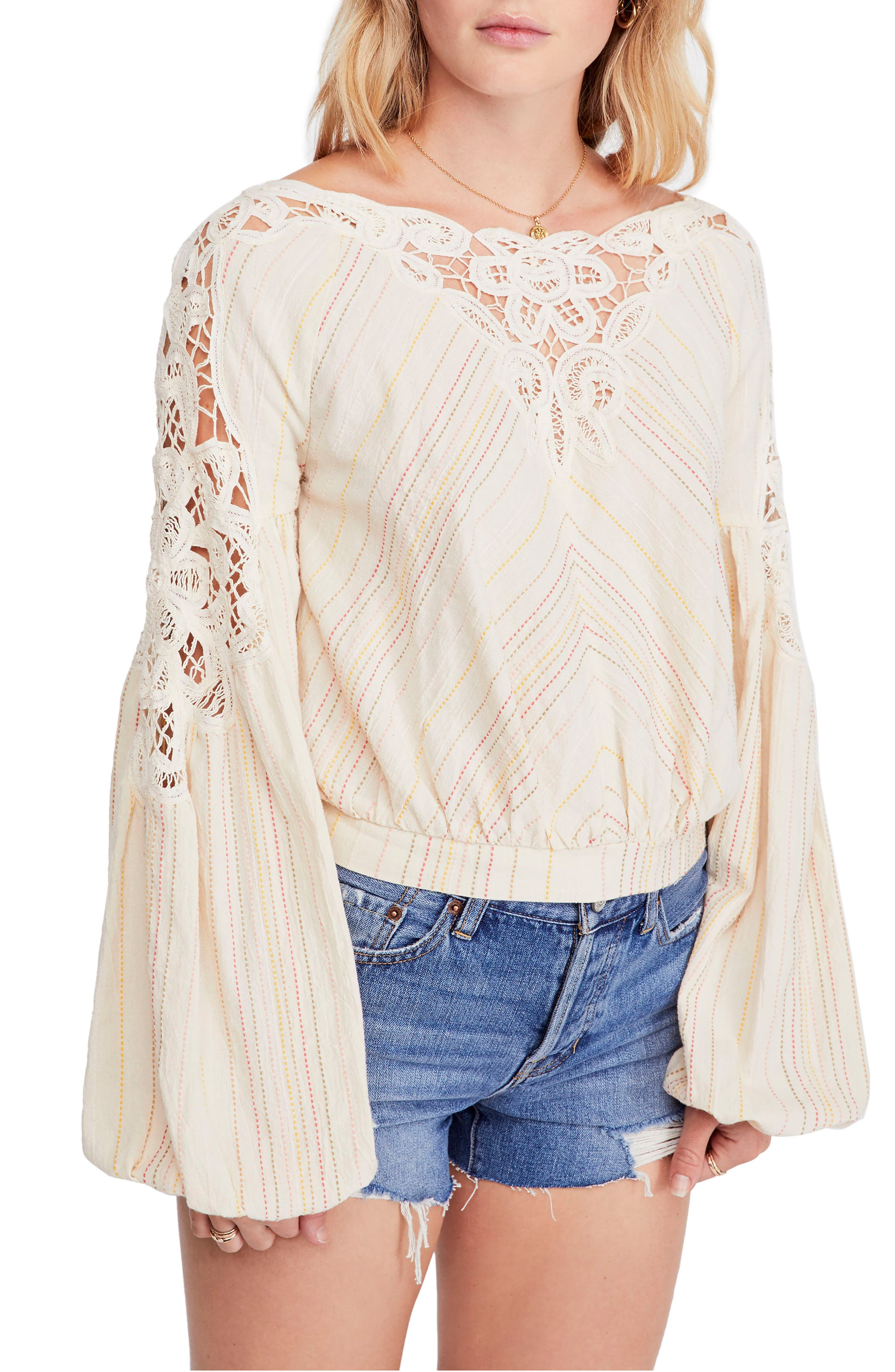 FREE PEOPLE,                             Floating Memories Top,                             Main thumbnail 1, color,                             NEUTRAL