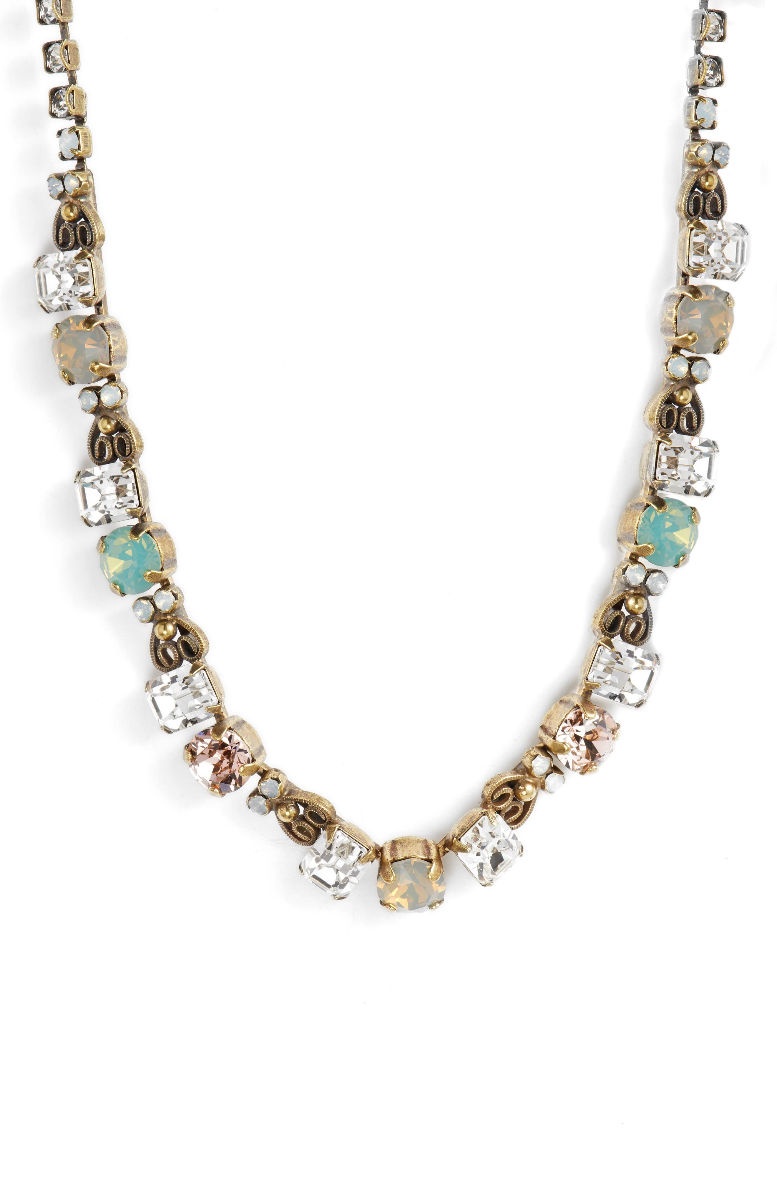Forsythia Crystal Necklace,                         Main,                         color, 710
