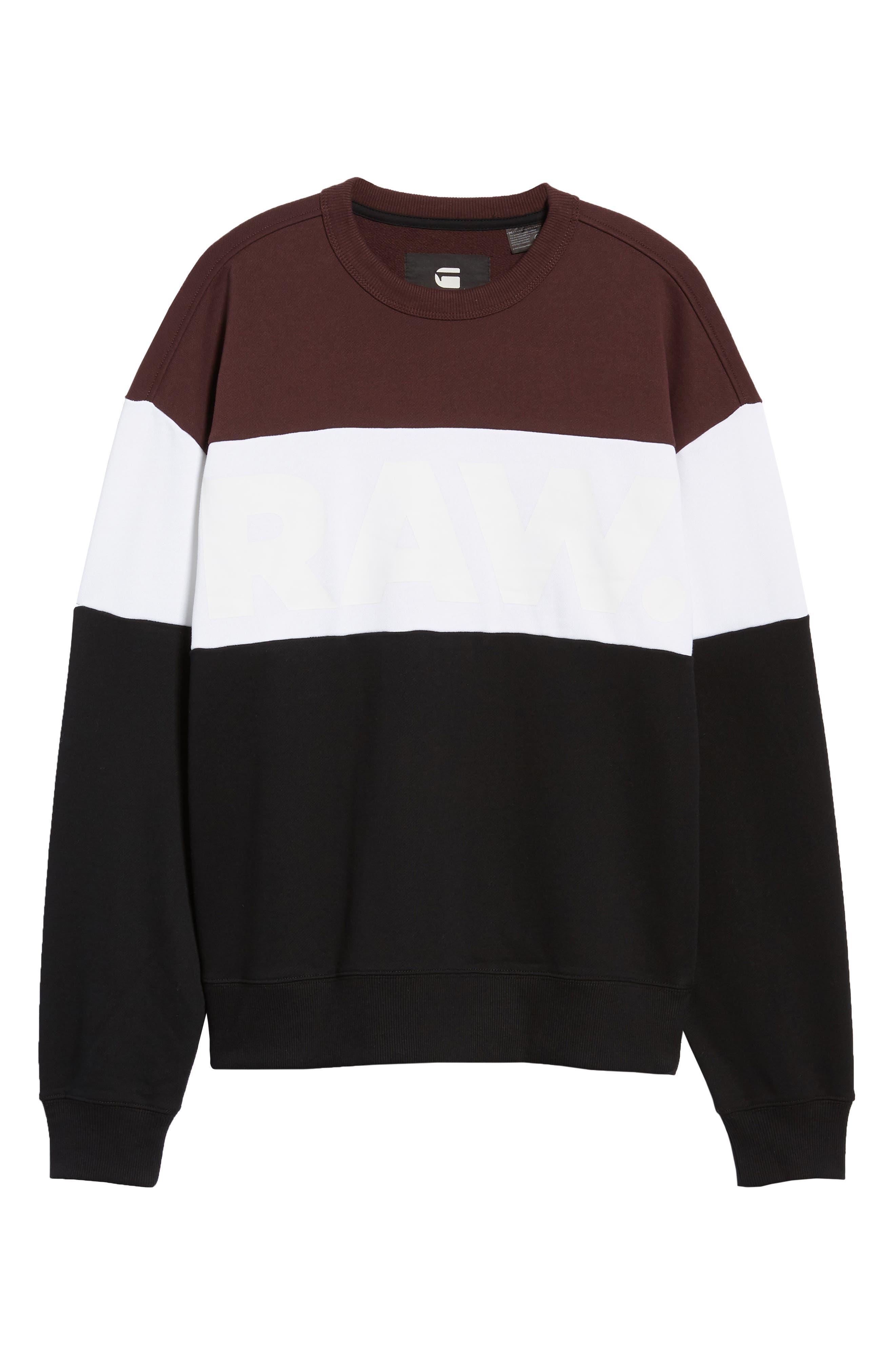 Libe Core Colorblock Sweatshirt,                             Alternate thumbnail 6, color,                             001