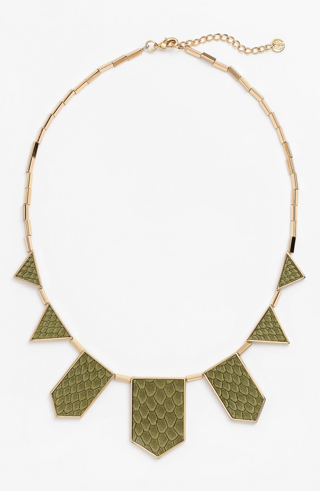 Leather Station Necklace,                             Main thumbnail 6, color,