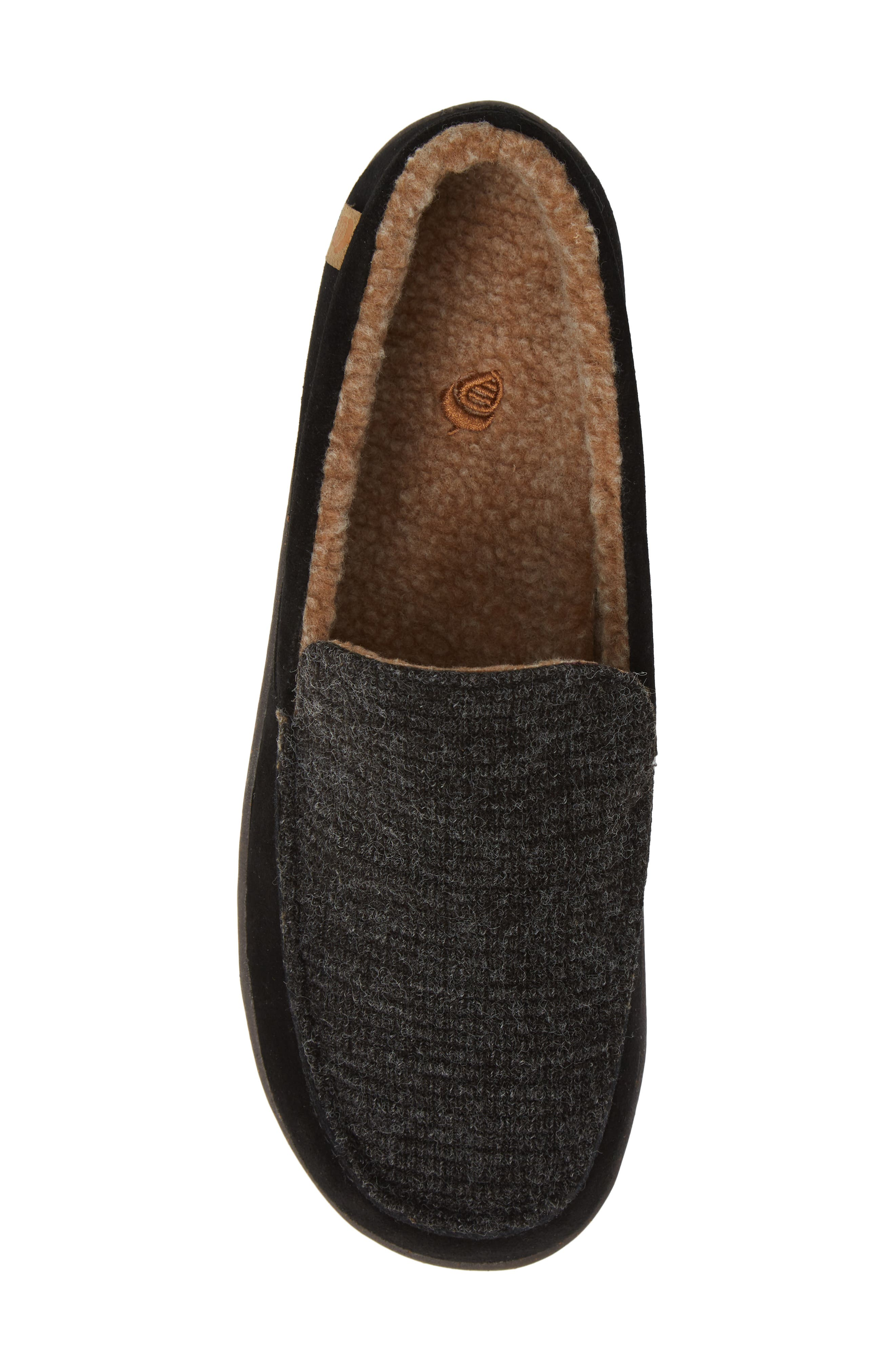 Ellsworth Moc Toe Slipper,                             Alternate thumbnail 5, color,                             BLACK