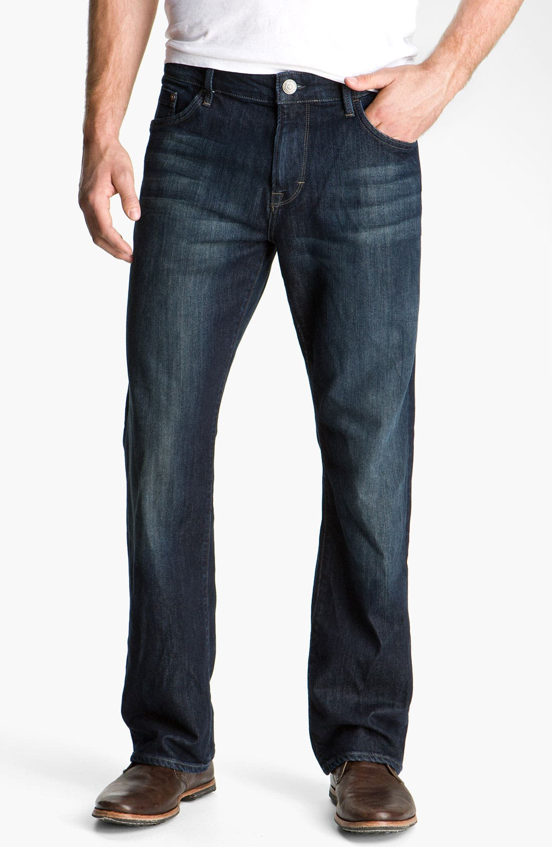 'Matt' Relaxed Fit Jeans,                             Main thumbnail 1, color,                             DEEP STANFORD COMFORT