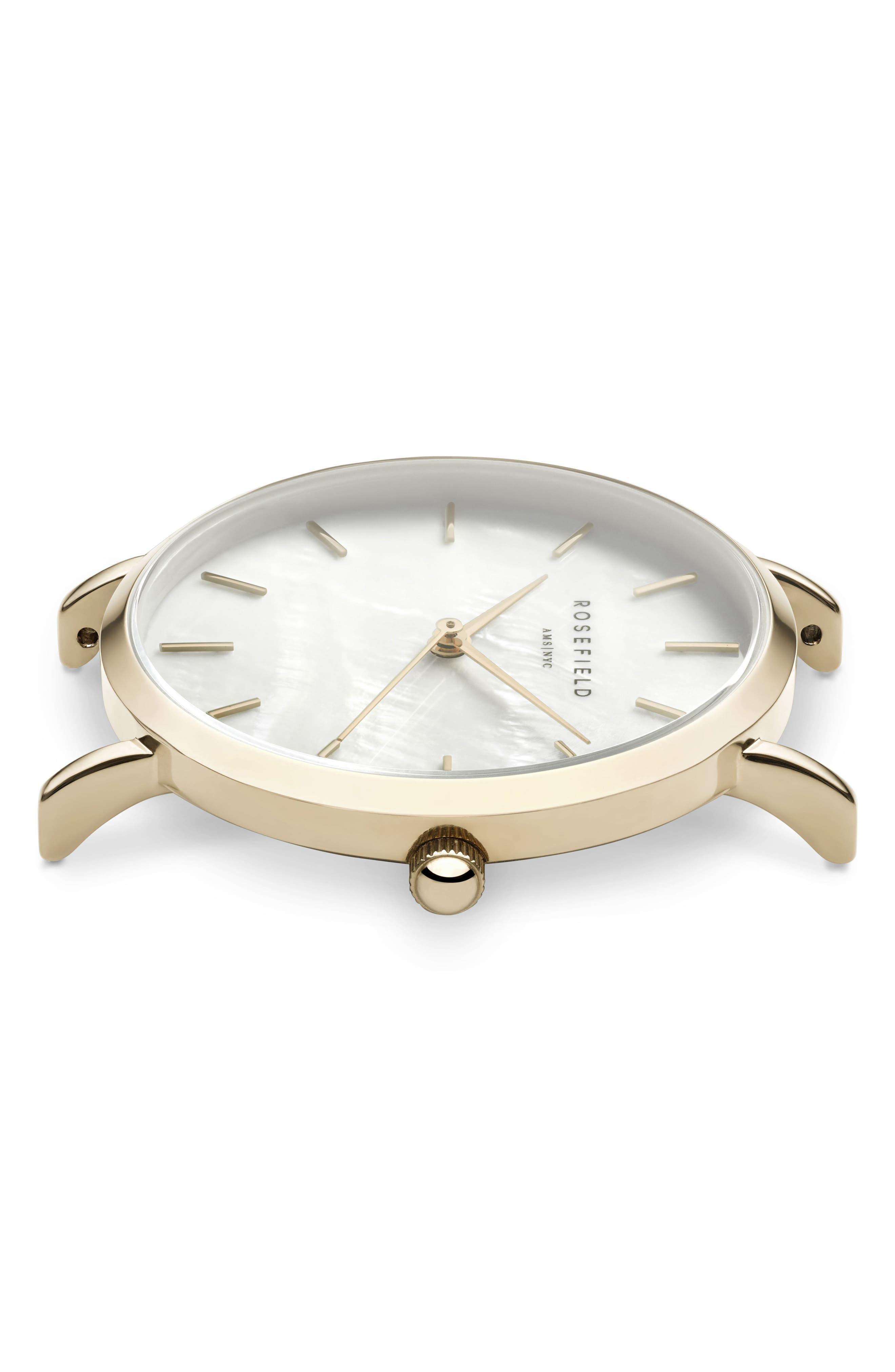 Upper East Side Bracelet Watch, 33mm,                             Alternate thumbnail 2, color,                             GOLD/ WHITE PEARL/ GOLD