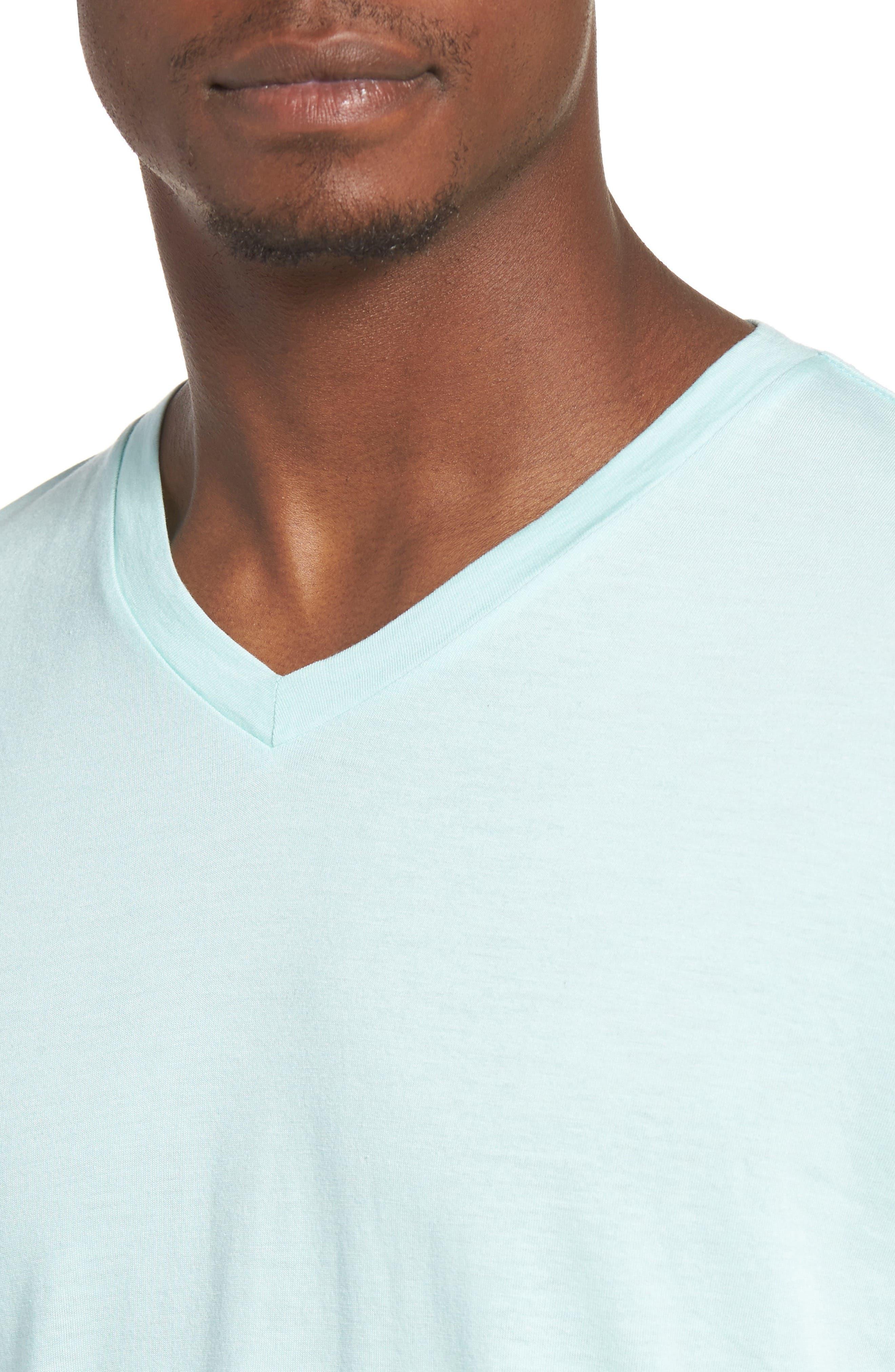 Essential V-Neck T-Shirt,                             Alternate thumbnail 38, color,