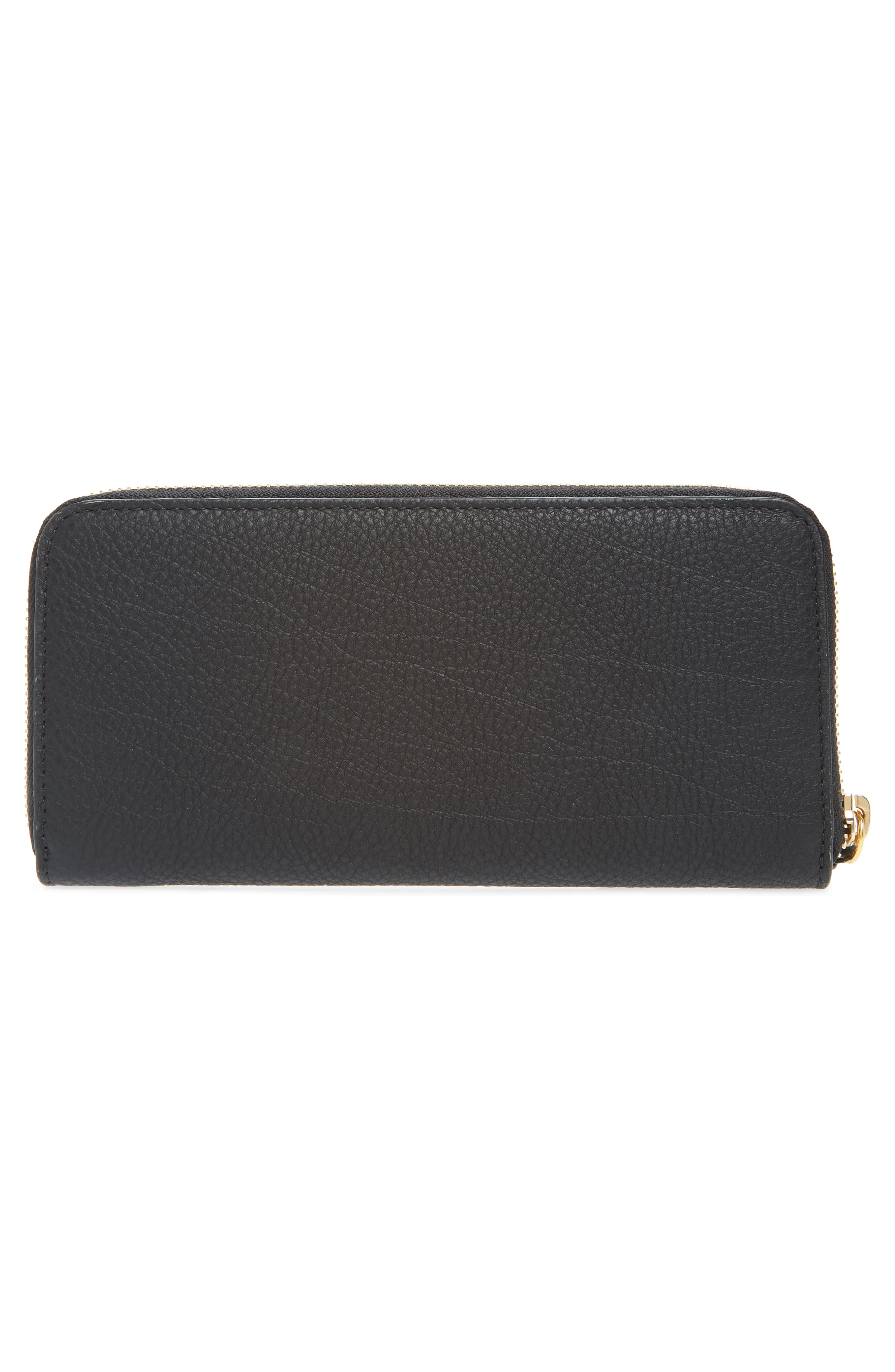 Messages Around Leather Wallet,                             Alternate thumbnail 3, color,                             001