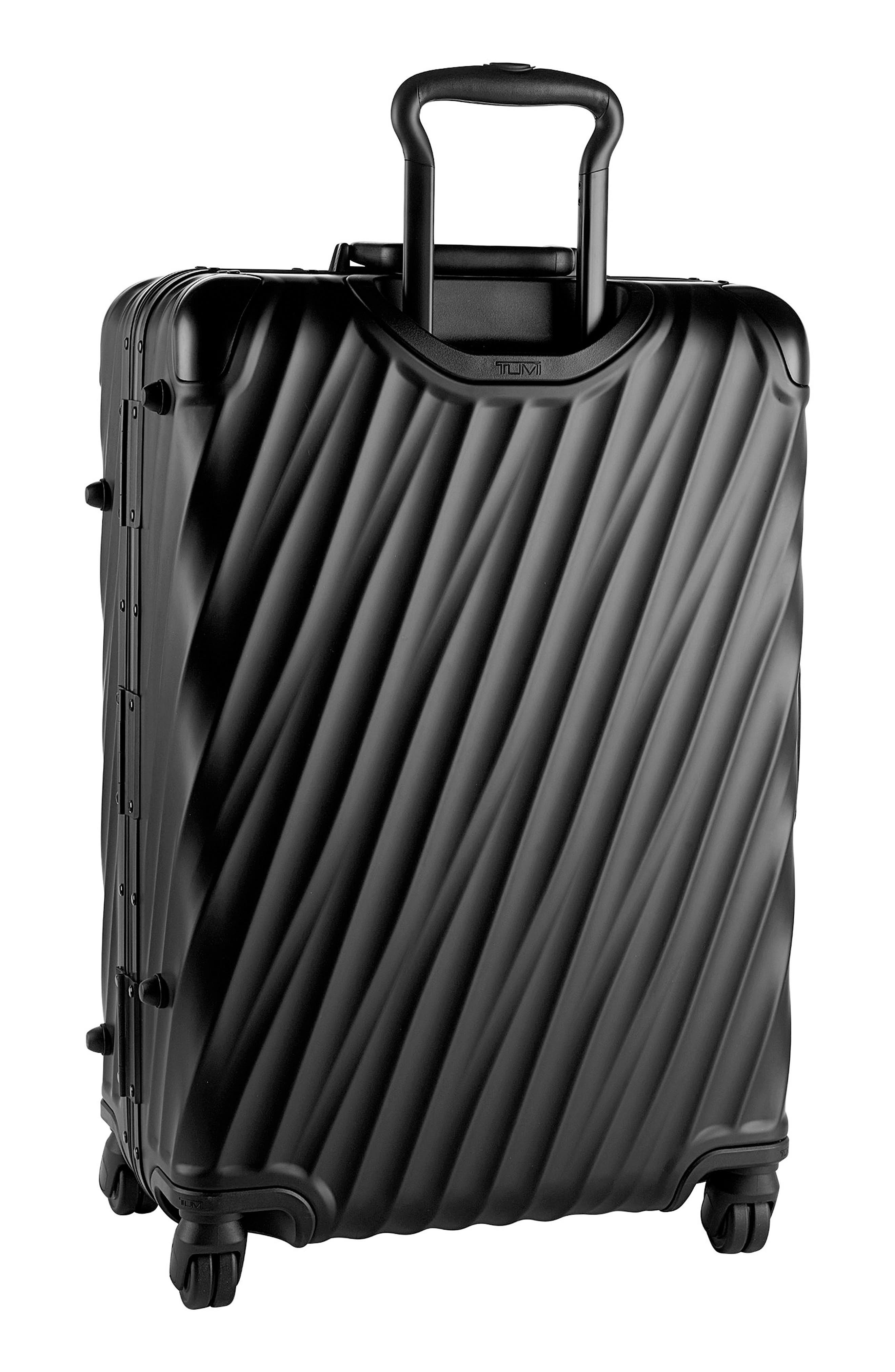 19-Degree Collection 26-Inch Wheeled Aluminum Short Trip Packing Case,                             Alternate thumbnail 4, color,                             MATTE BLACK