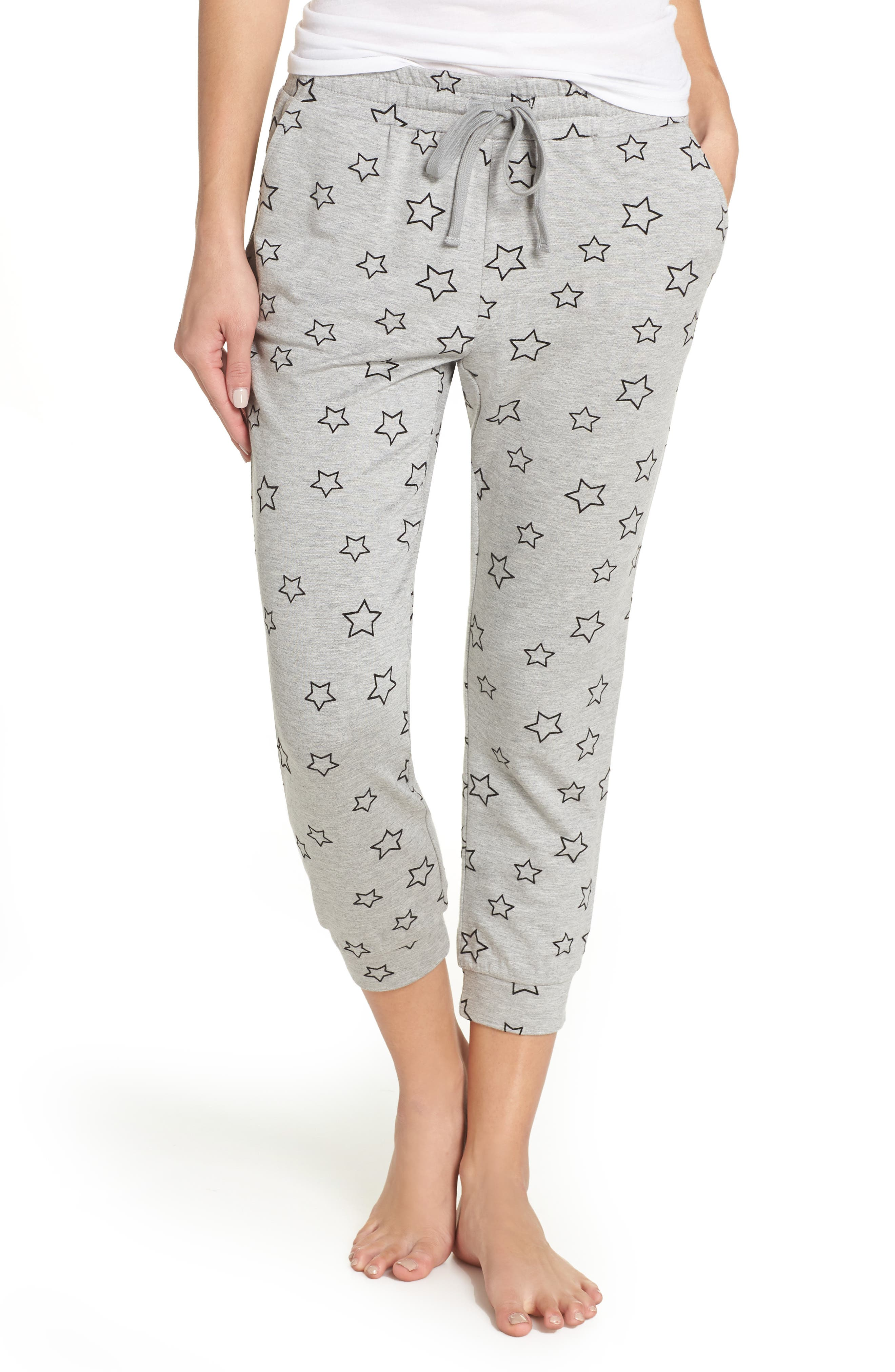 Seeing Stars Lounge Jogger Pants in Heather Grey