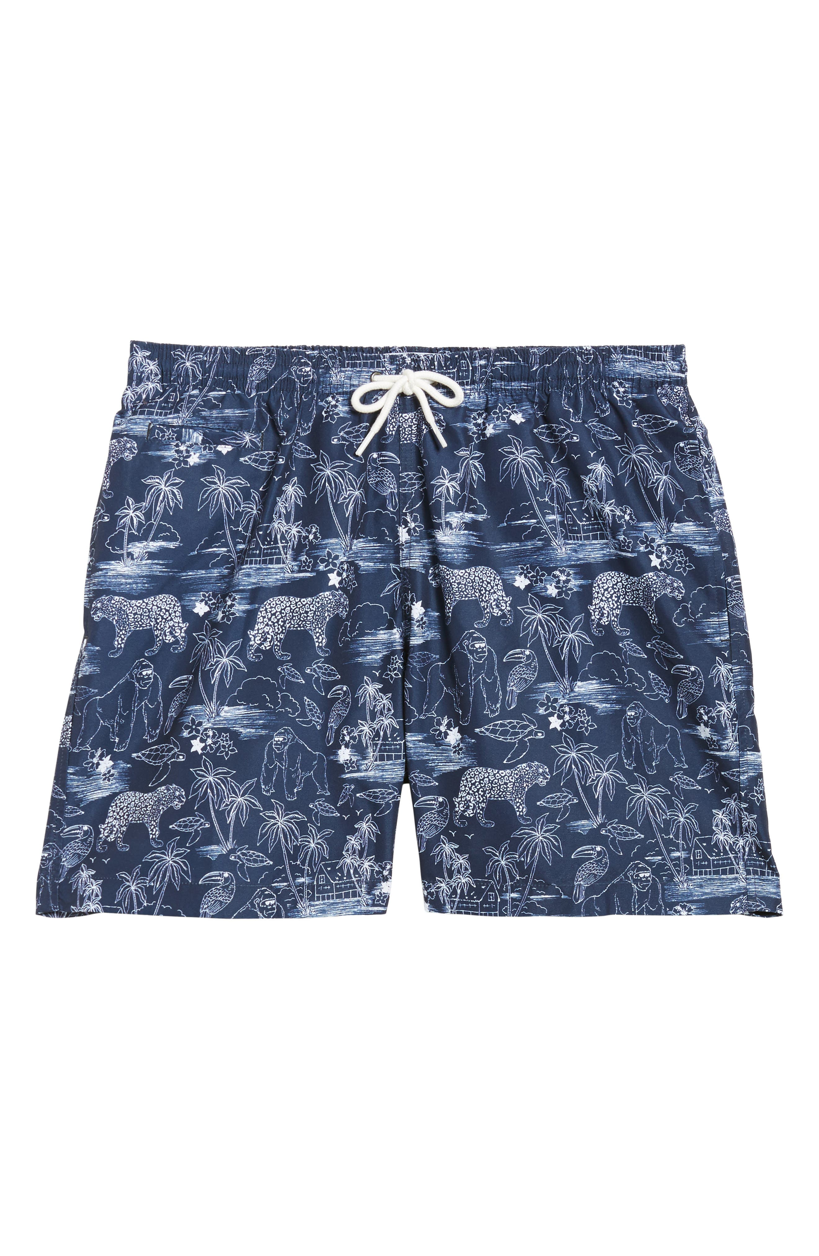 Trunks Surf & Co. San O Jungle Safari Swim Trunks,                             Alternate thumbnail 6, color,                             100