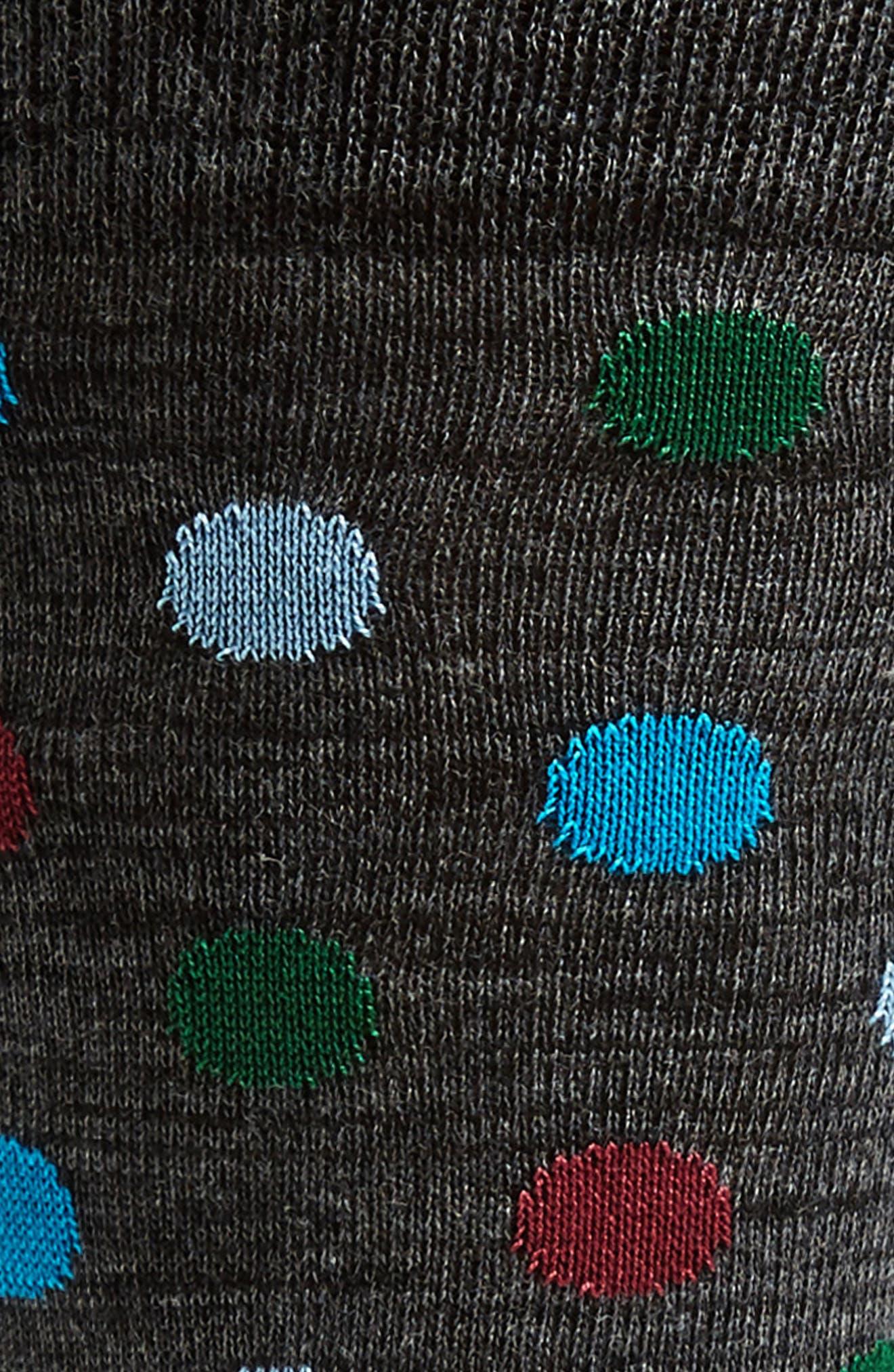 Dot & Stripe Socks,                             Alternate thumbnail 4, color,