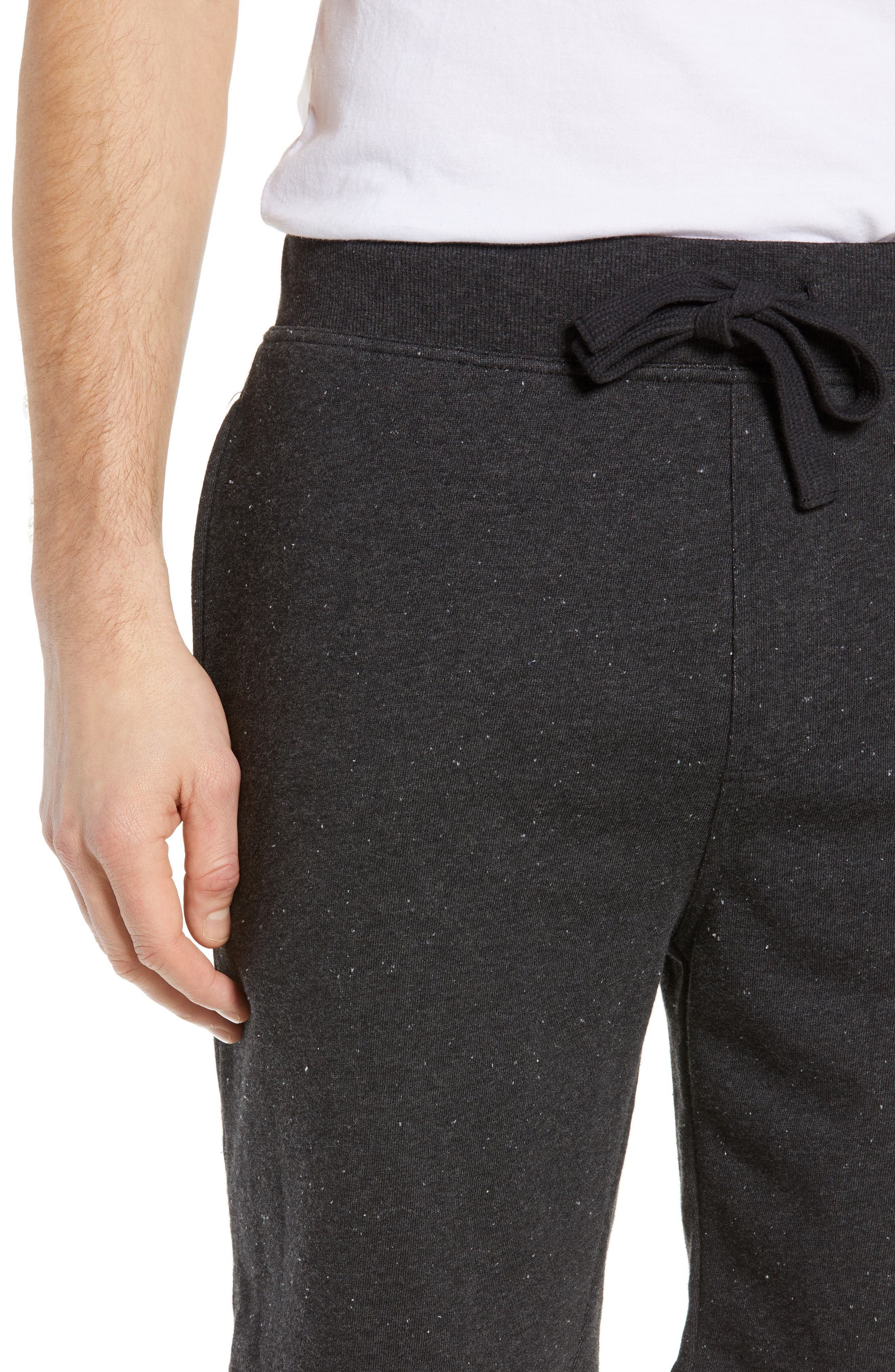 UGG<SUP>®</SUP>,                             Zavier Terry Lounge Shorts,                             Alternate thumbnail 4, color,                             BLACK
