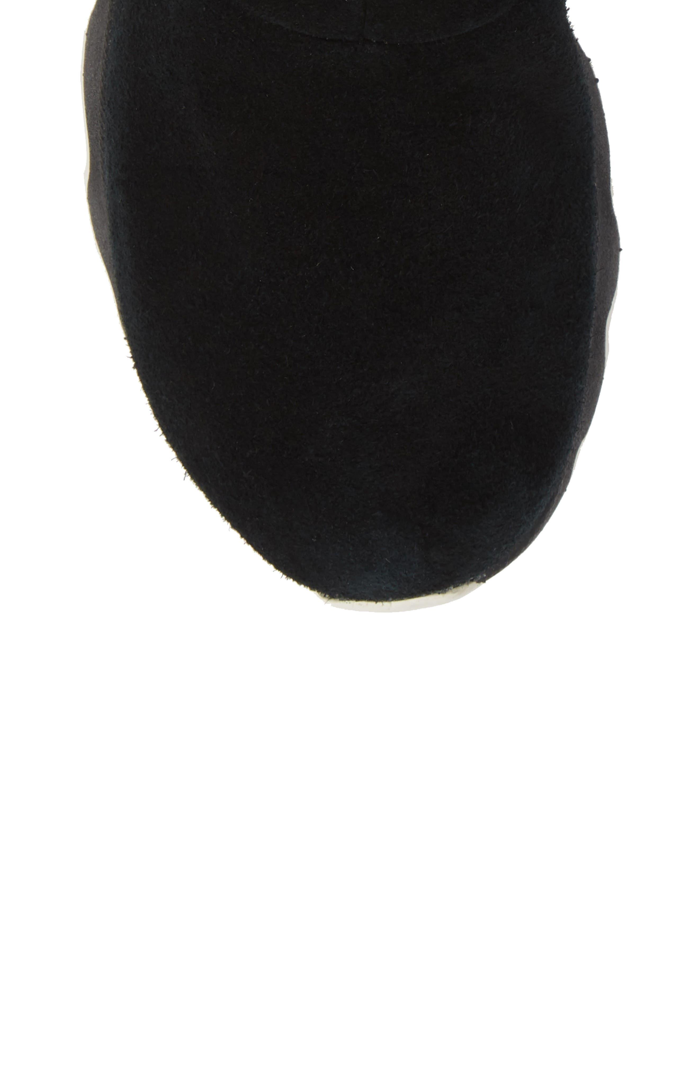 Kinetic Insulated Waterproof Short Boots,                             Alternate thumbnail 5, color,                             BLACK/ SEA SALT