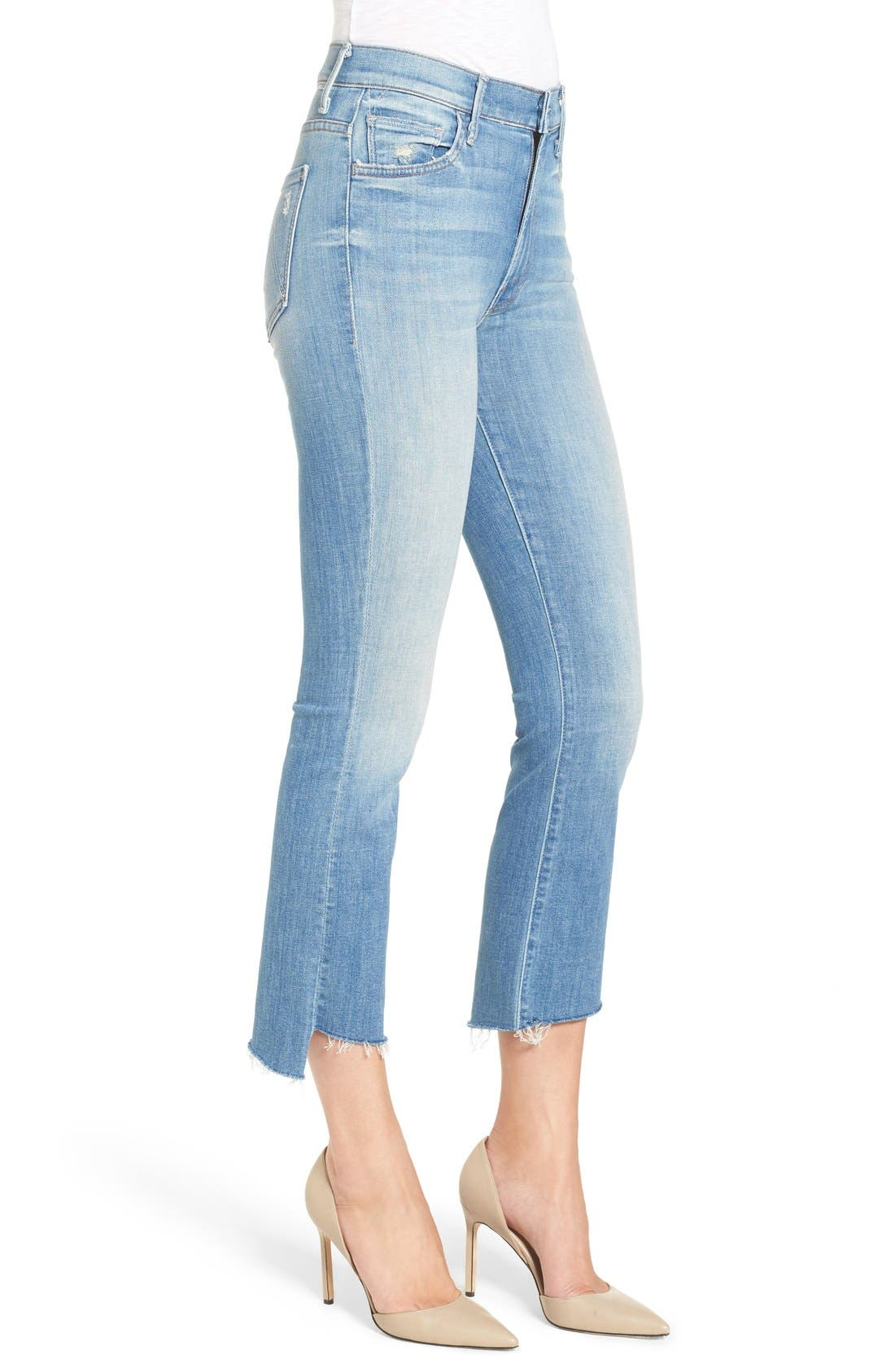 'The Insider' Crop Step Fray Jeans,                             Alternate thumbnail 3, color,                             SHAKE WELL