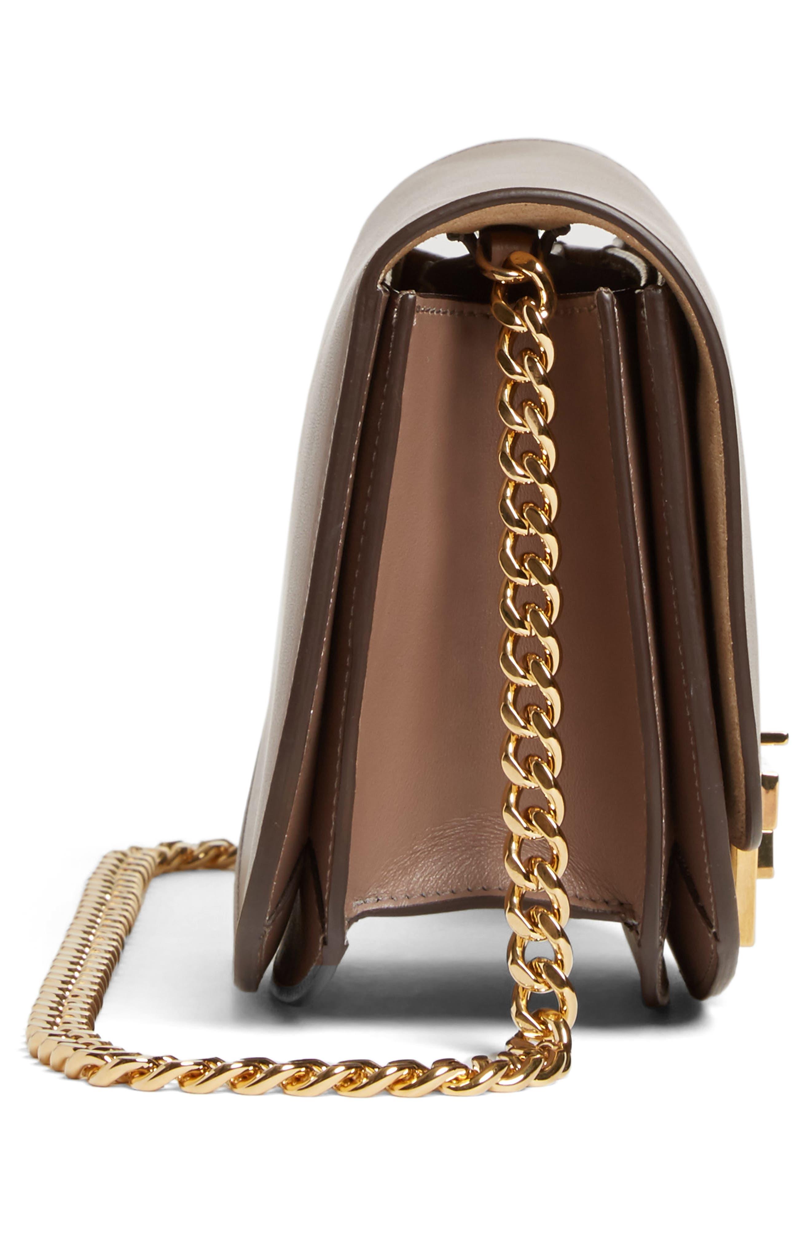 Medium Box Leather Shoulder Bag,                             Alternate thumbnail 5, color,                             200