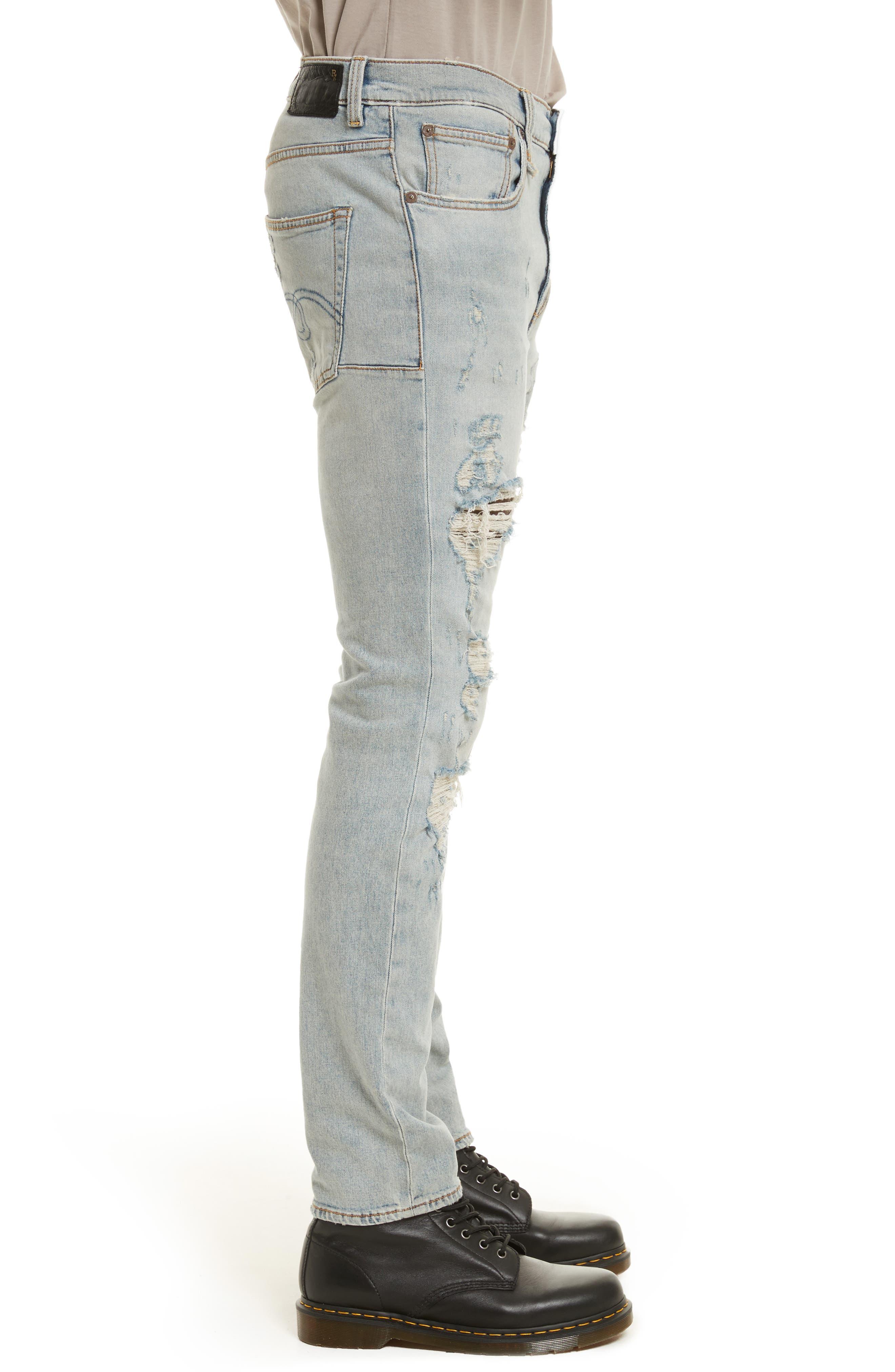 Skate Destroyed Jeans,                             Alternate thumbnail 3, color,                             460