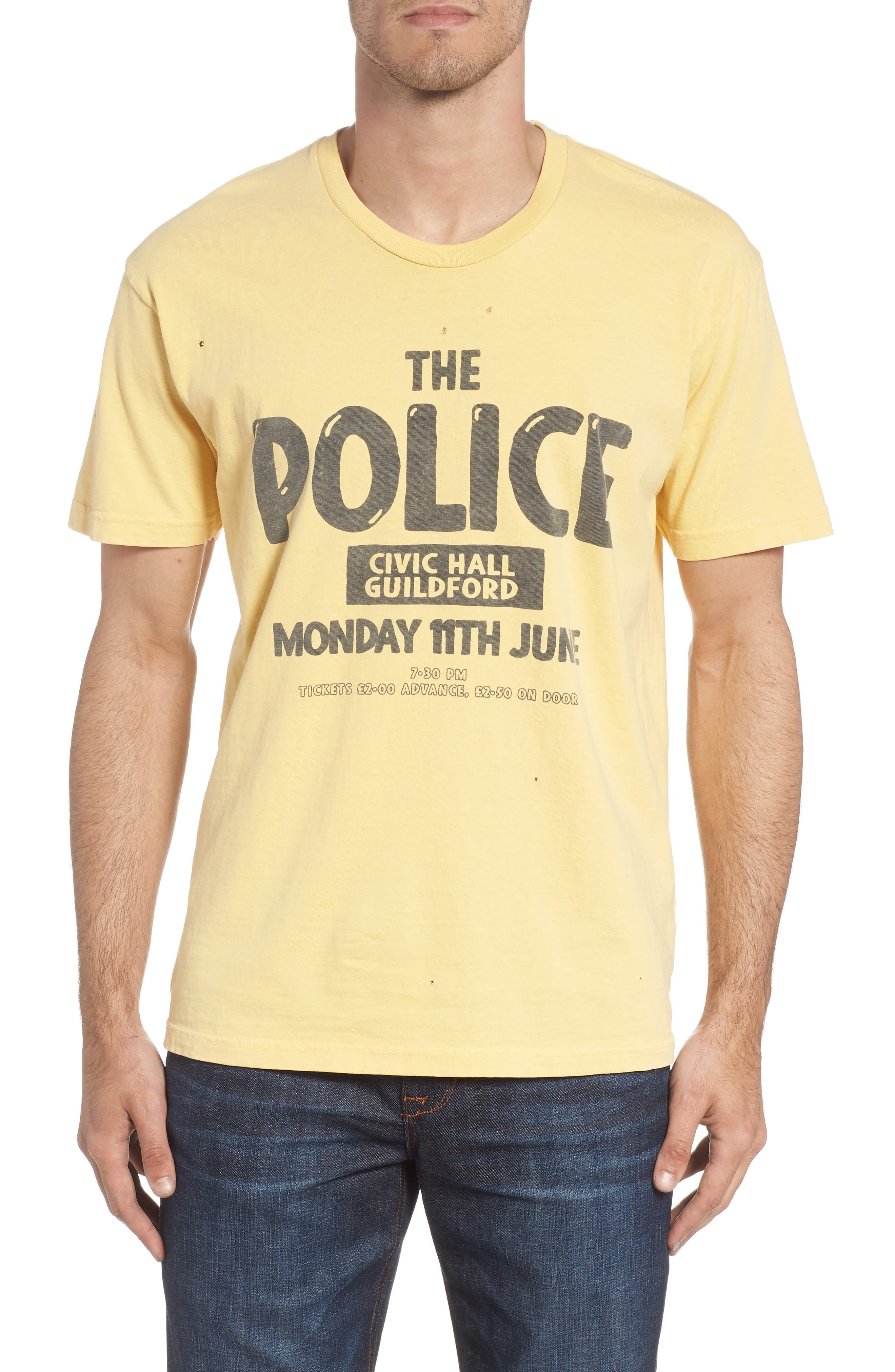 The Police Graphic T-Shirt,                         Main,                         color, ANTIQUE YELLOW