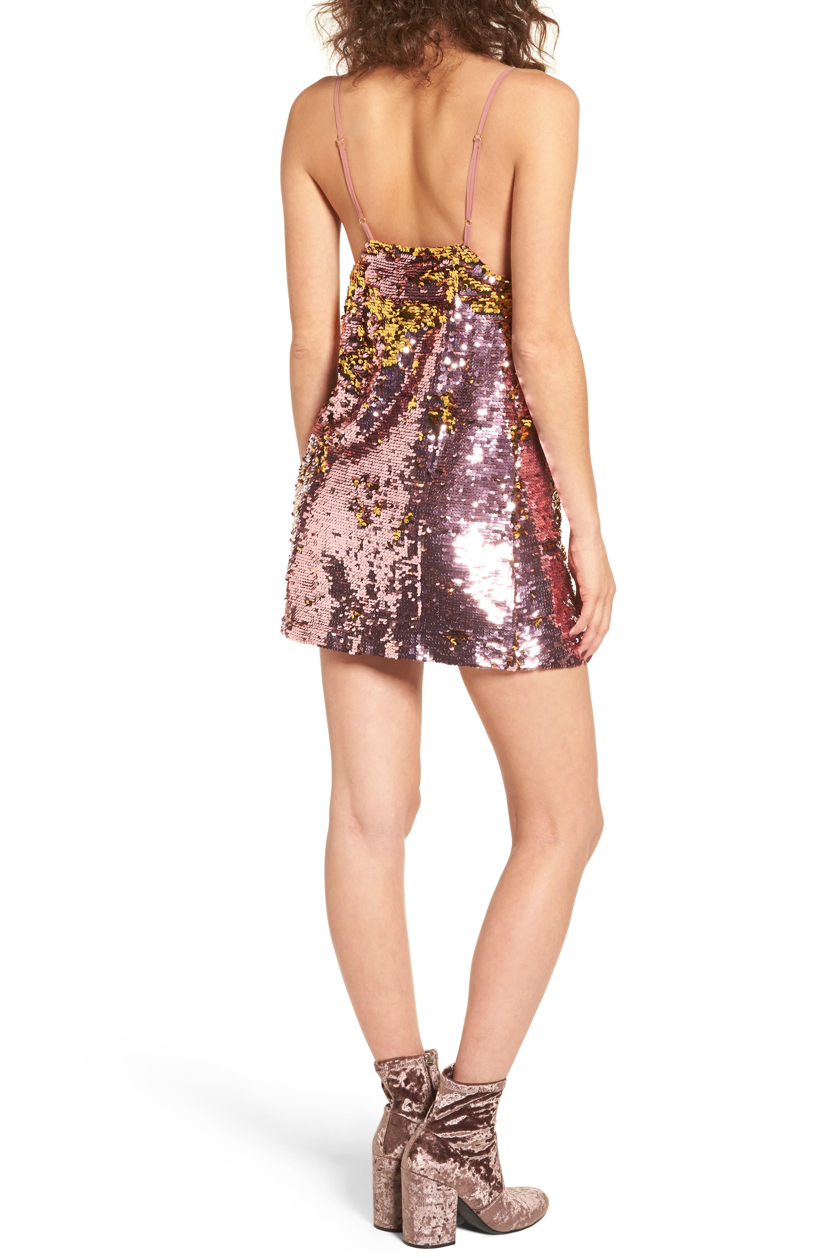 Sparklers Sequin Minidress,                             Alternate thumbnail 2, color,                             650