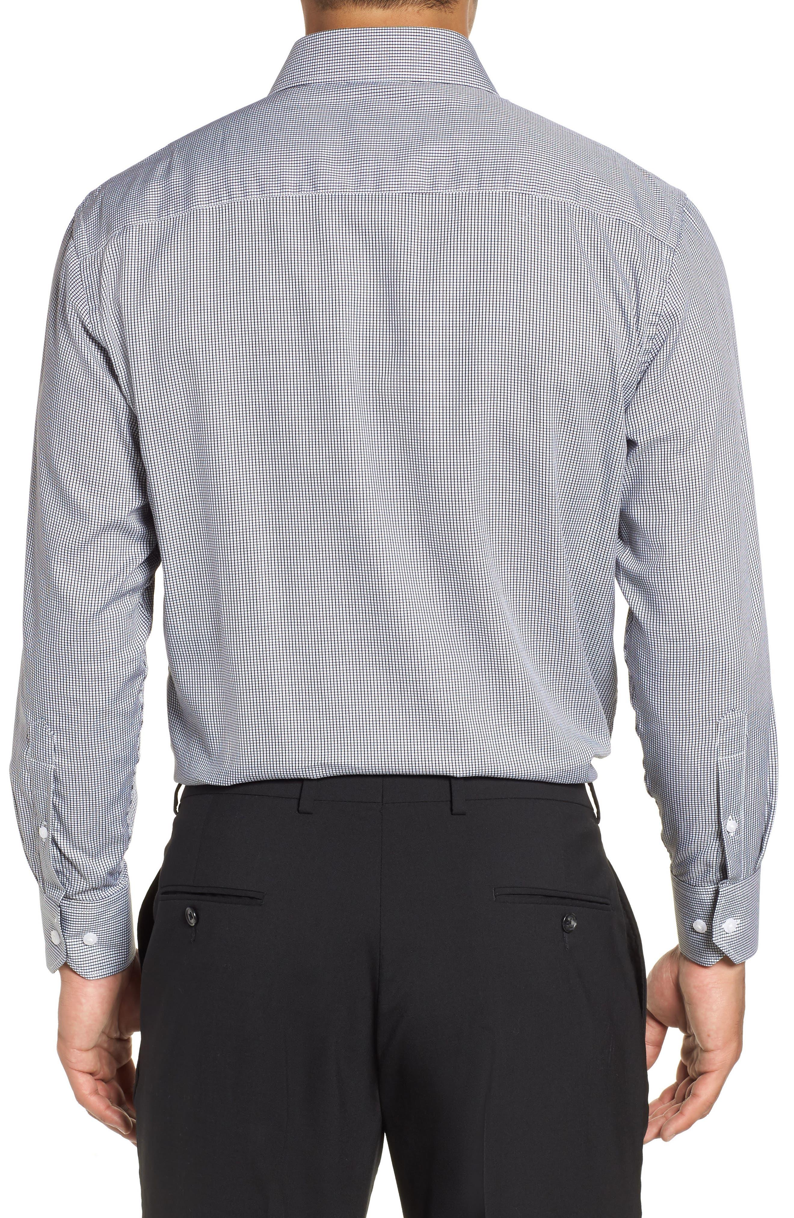 ENGLISH LAUNDRY,                             Regular Fit Check Dress Shirt,                             Alternate thumbnail 3, color,                             001