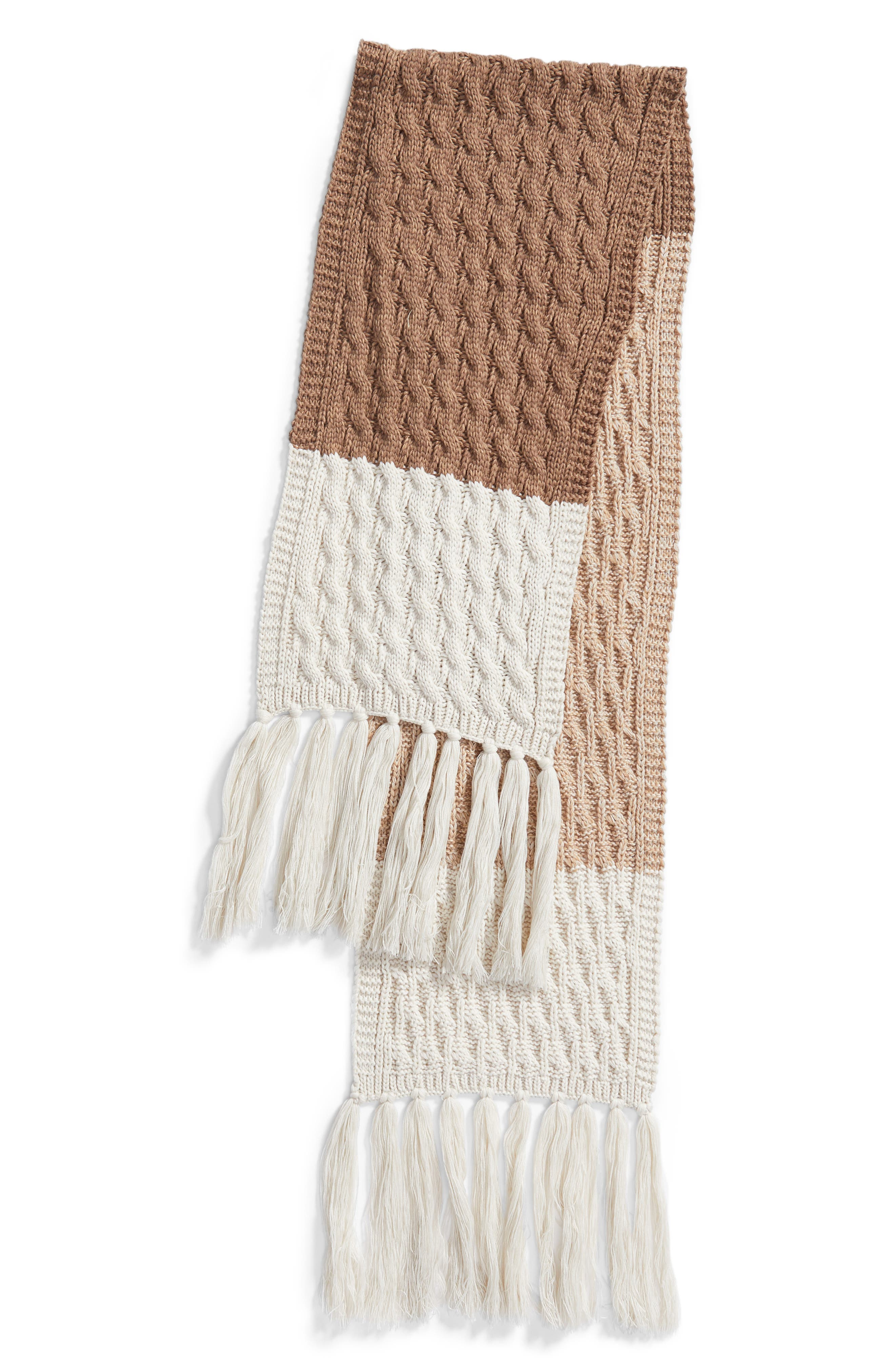 Colorblocked Fringe Scarf,                             Alternate thumbnail 9, color,
