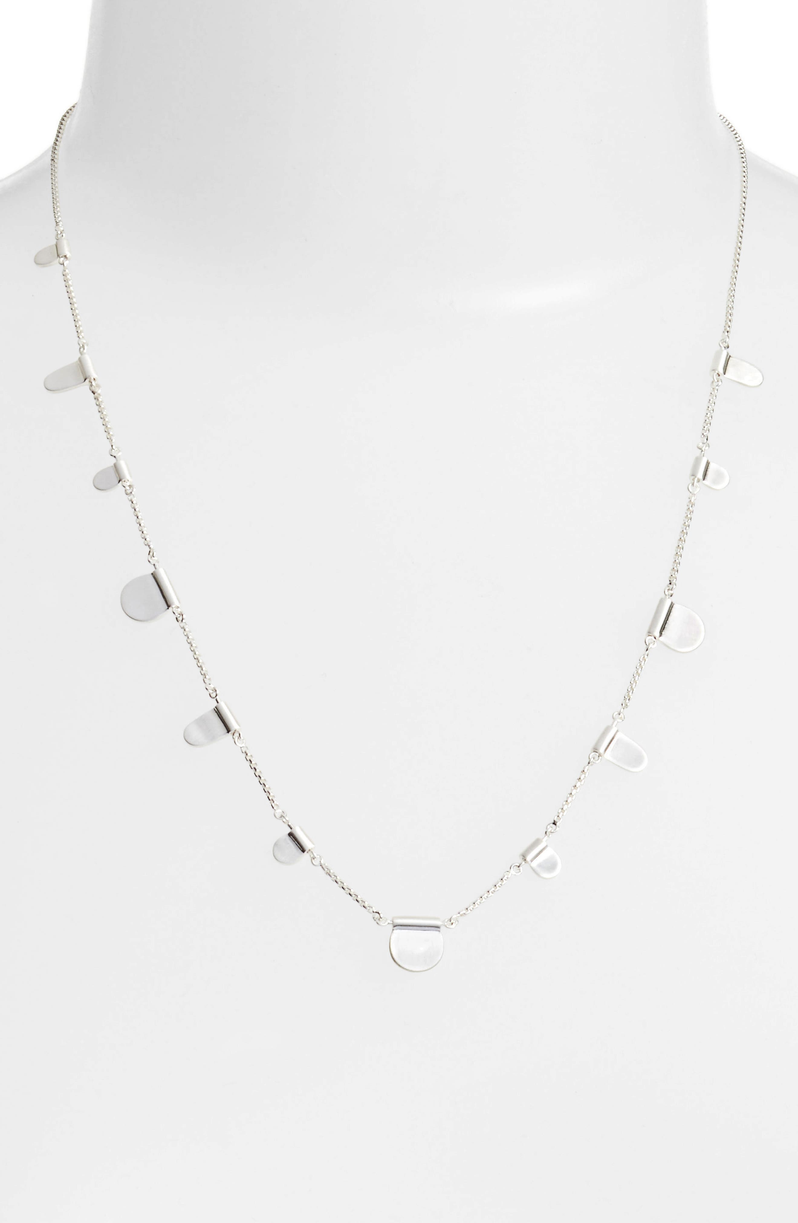 Olive Necklace,                             Alternate thumbnail 2, color,                             BRIGHT SILVER
