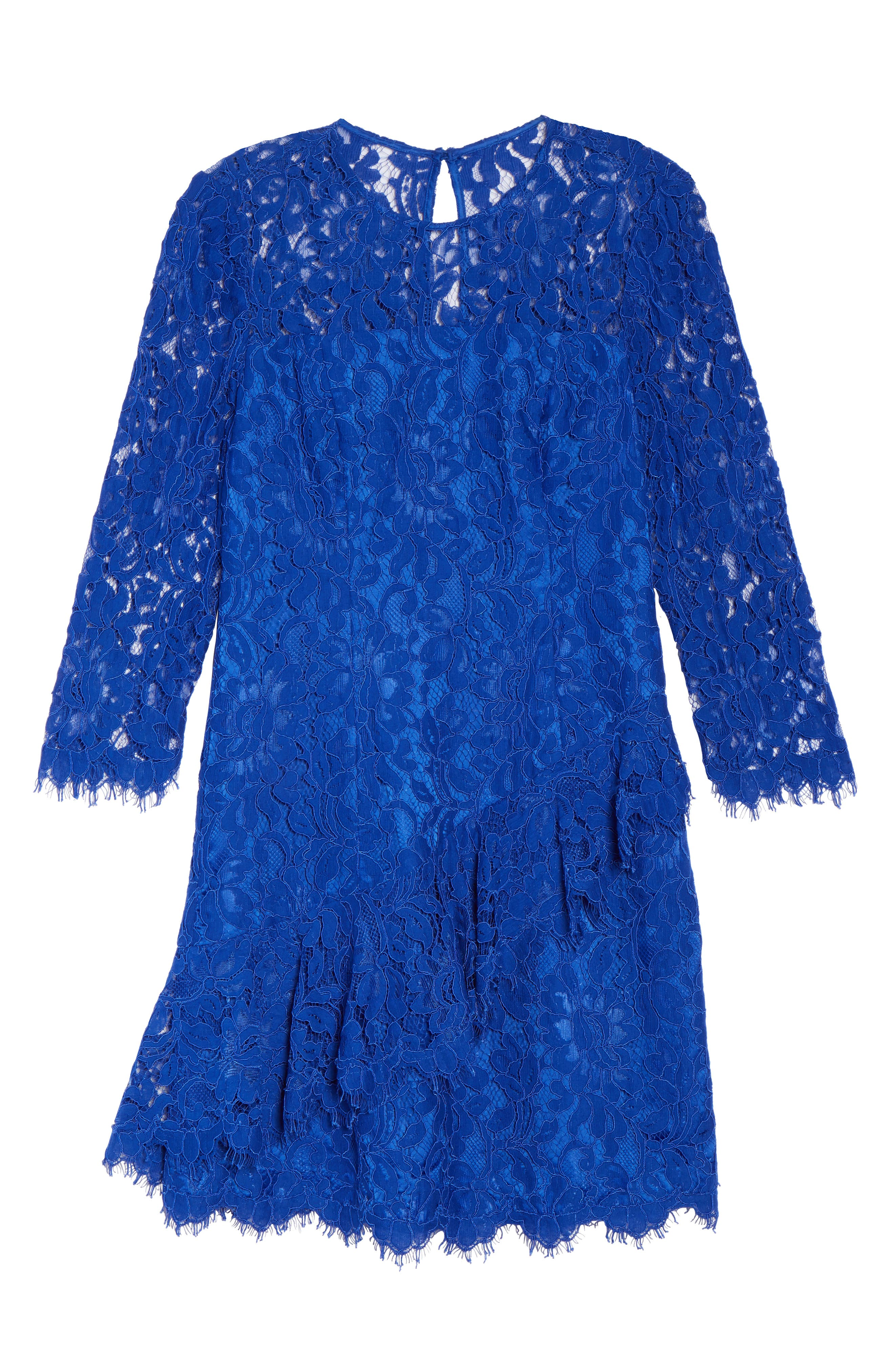 Lace Fit & Flare Dress,                             Alternate thumbnail 6, color,                             430