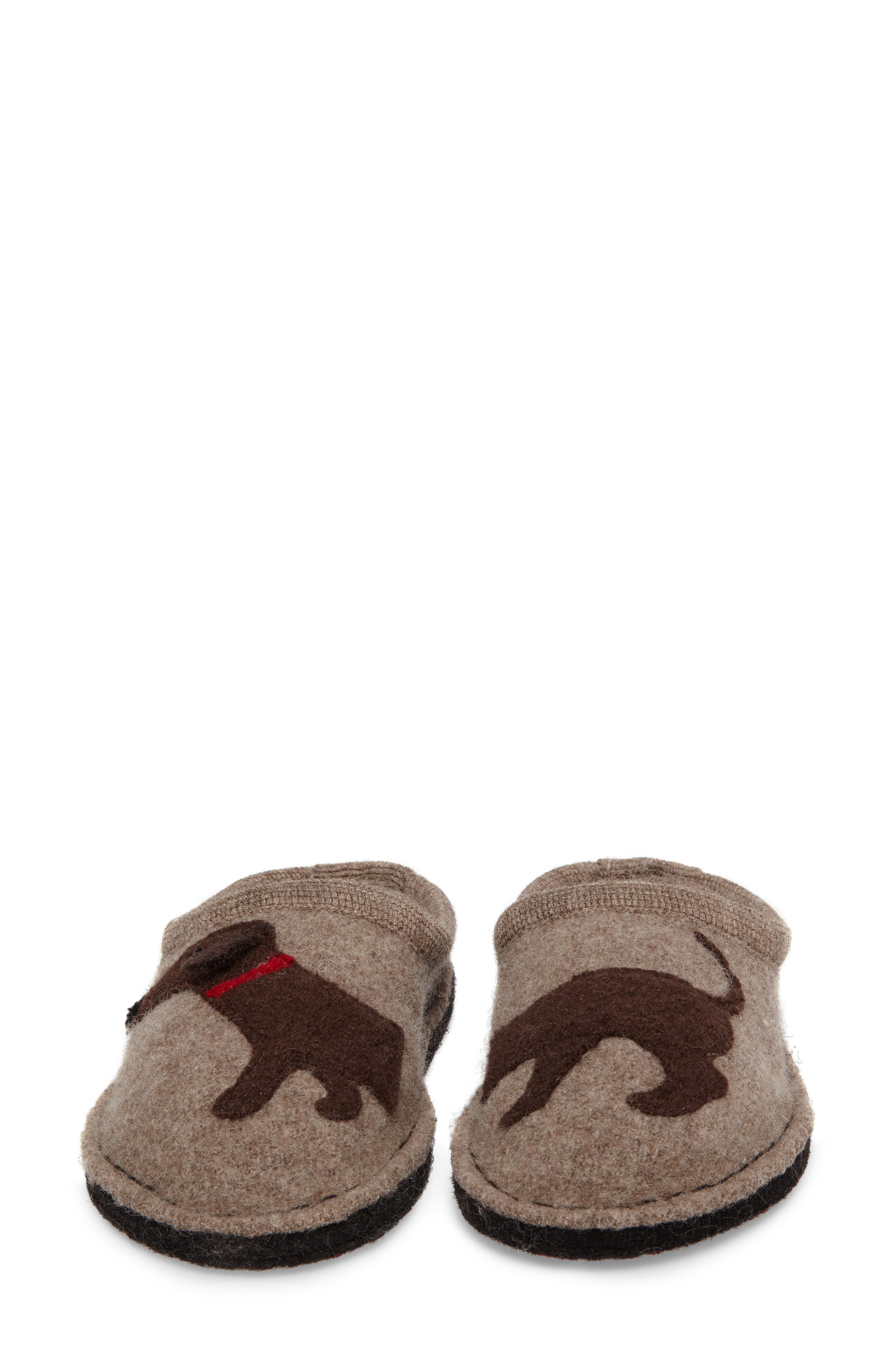 'Doggy' Slipper,                             Alternate thumbnail 6, color,                             EARTH