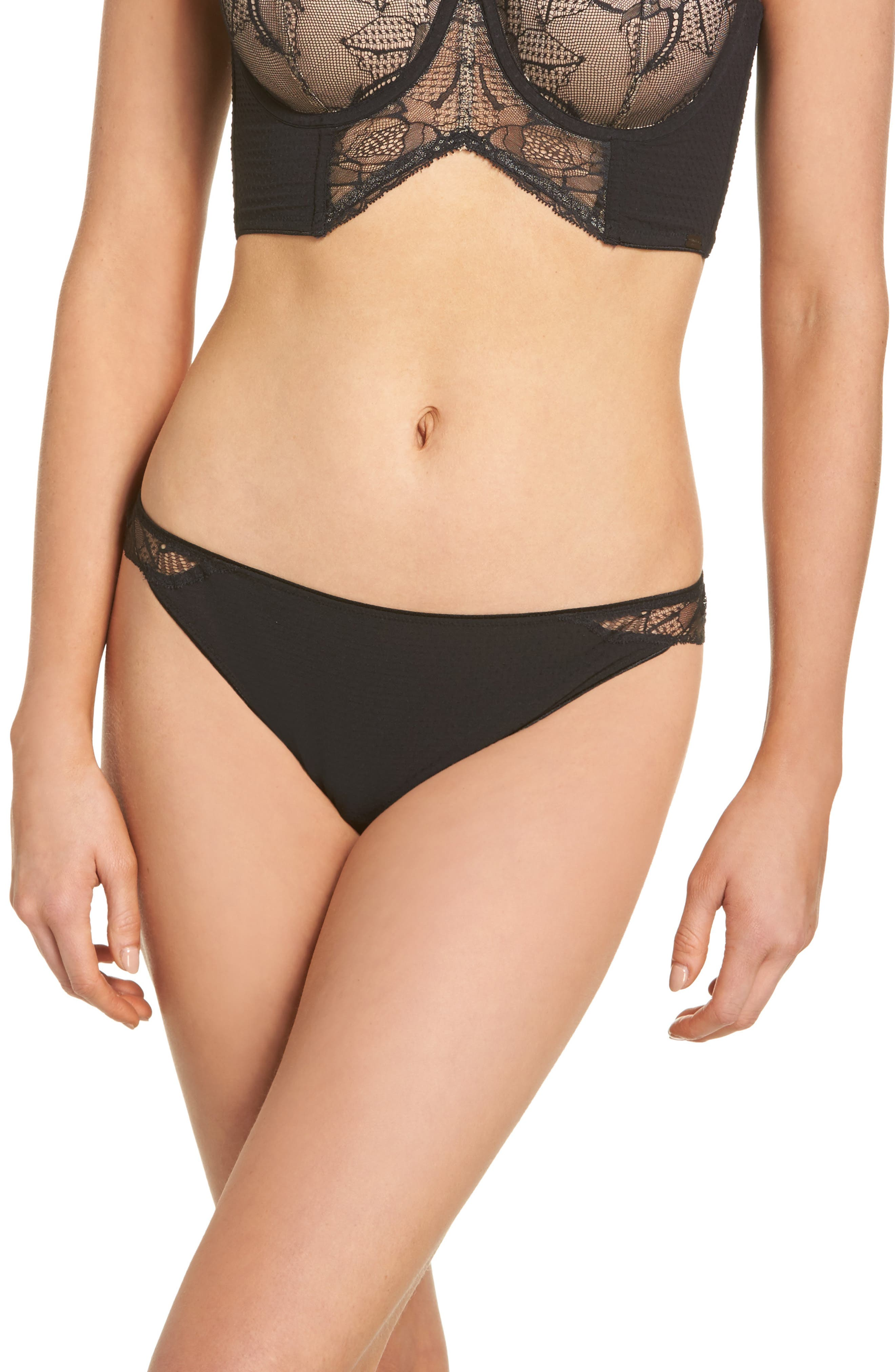 Black Rose Lace Tanga,                             Main thumbnail 1, color,                             001