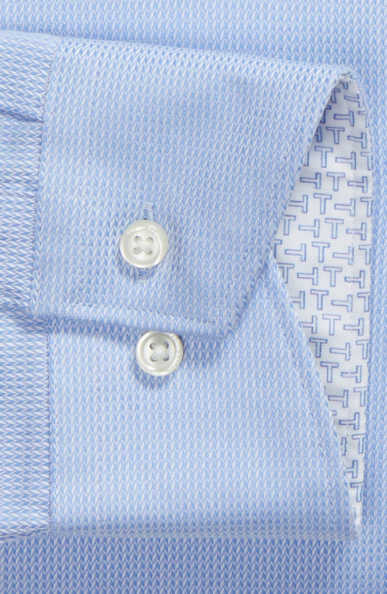 Trim Fit Stretch Performance Dress Shirt,                             Alternate thumbnail 6, color,                             BLUE