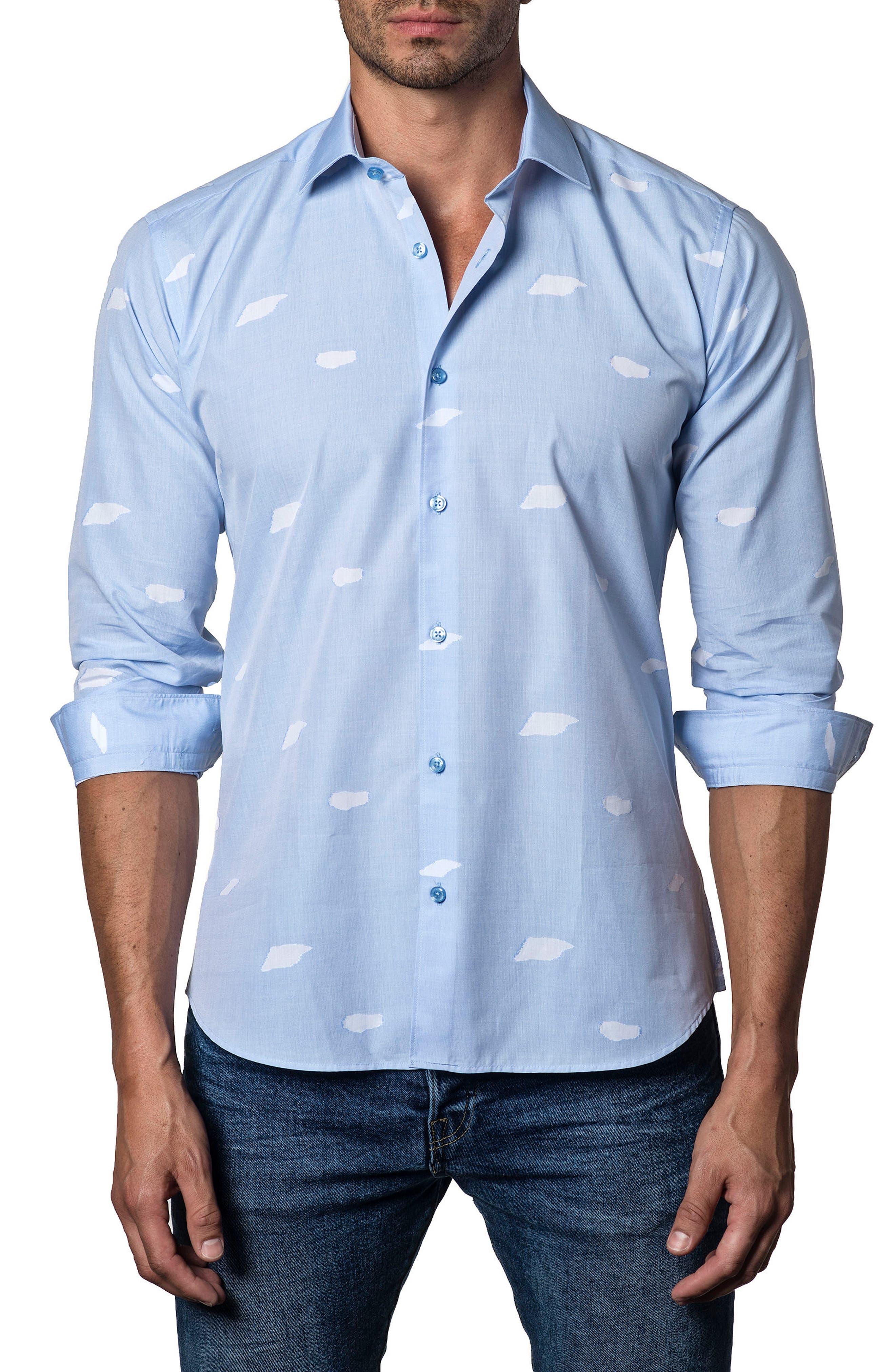 Trim Fit Print Sport Shirt,                         Main,                         color, 450