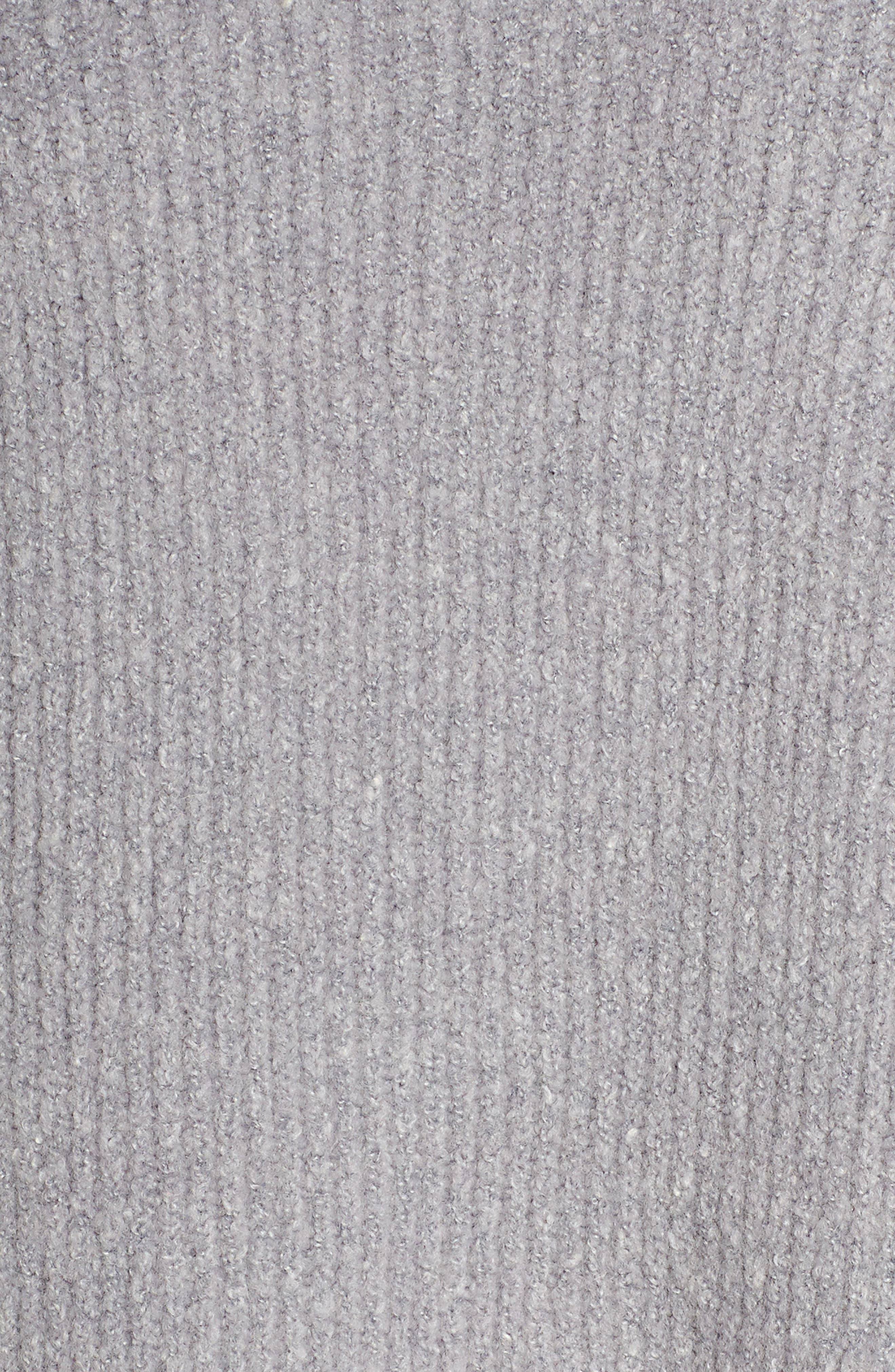 Shakti Oversize Sweater,                             Alternate thumbnail 6, color,                             SILVER GREY MARL