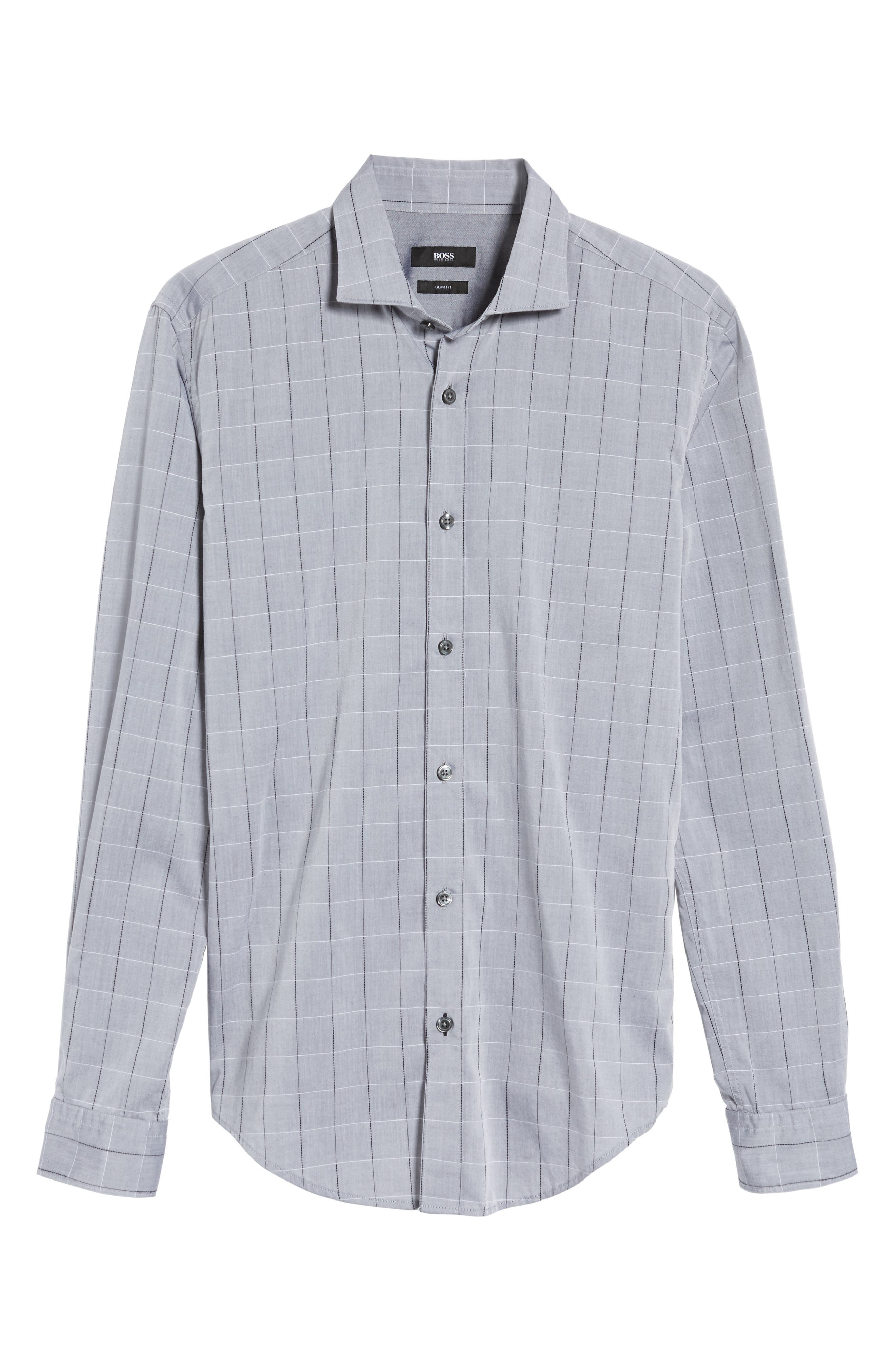 Ridley Slim Fit Dobby Check Sport Shirt,                             Alternate thumbnail 6, color,                             020