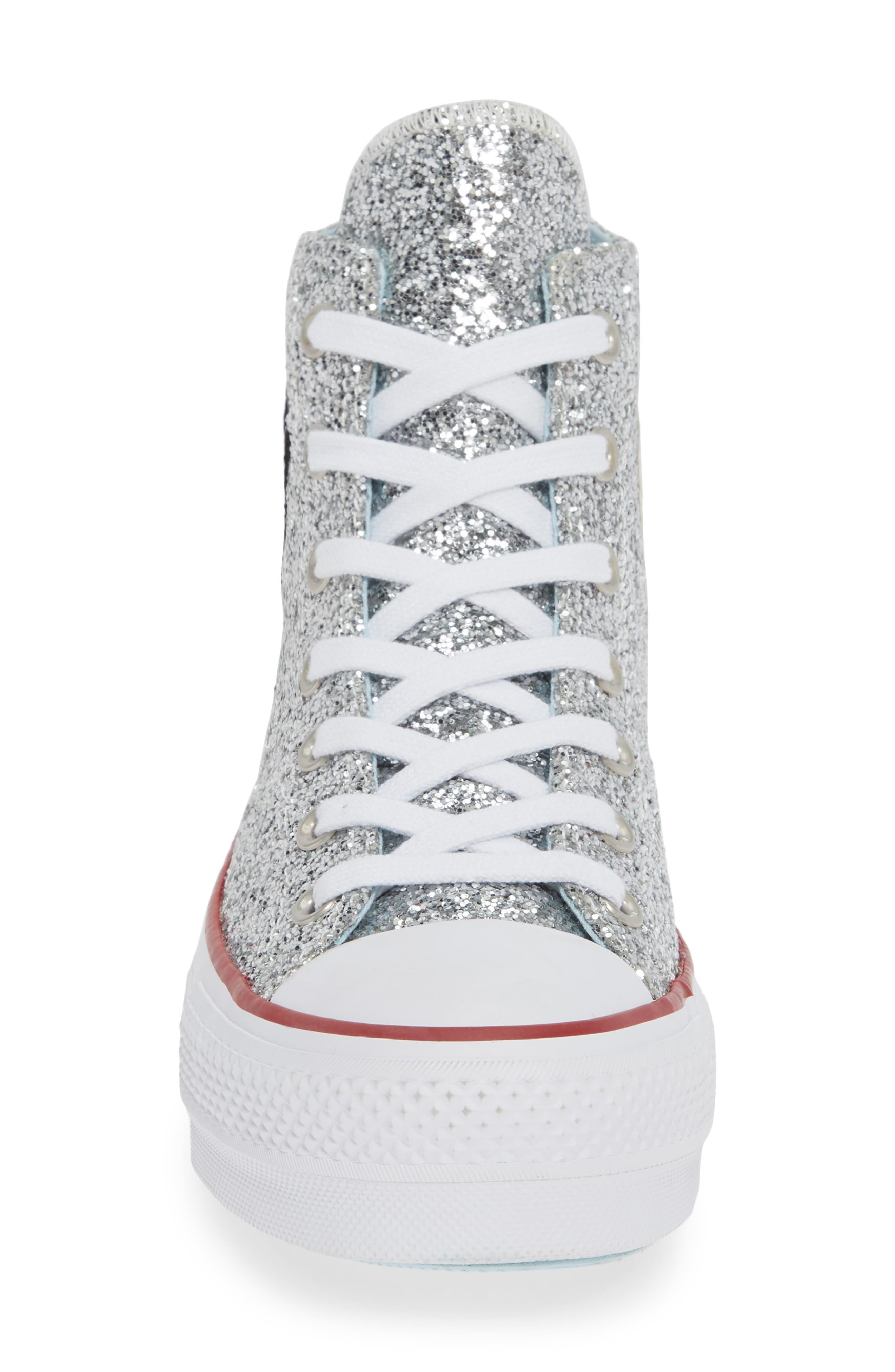 CONVERSE,                             x Chiara Ferragni 70 Hi One Star Glitter Platform Sneaker,                             Alternate thumbnail 4, color,                             040