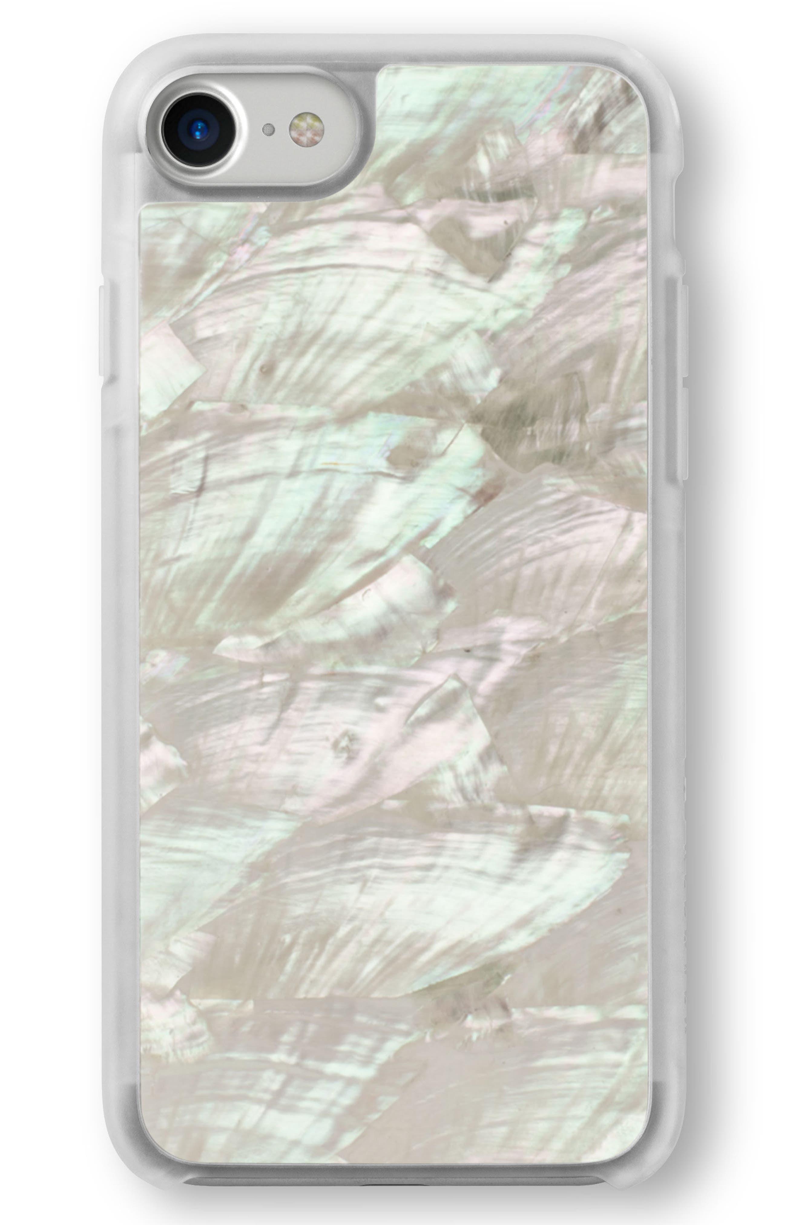 White Abalone iPhone 6/6s/7/8 & 6/6s/7/8 Plus Case,                             Alternate thumbnail 2, color,