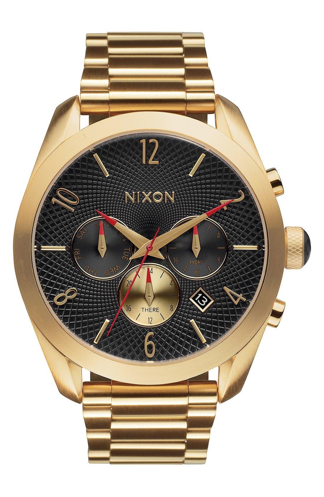 'Bullet' Guilloche Chronograph Bracelet Watch, 42mm,                             Main thumbnail 4, color,