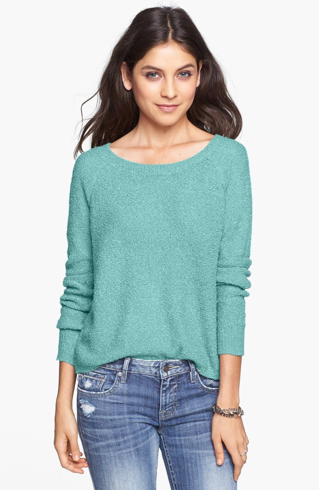 'Grunge' Textured Sweater,                             Main thumbnail 7, color,